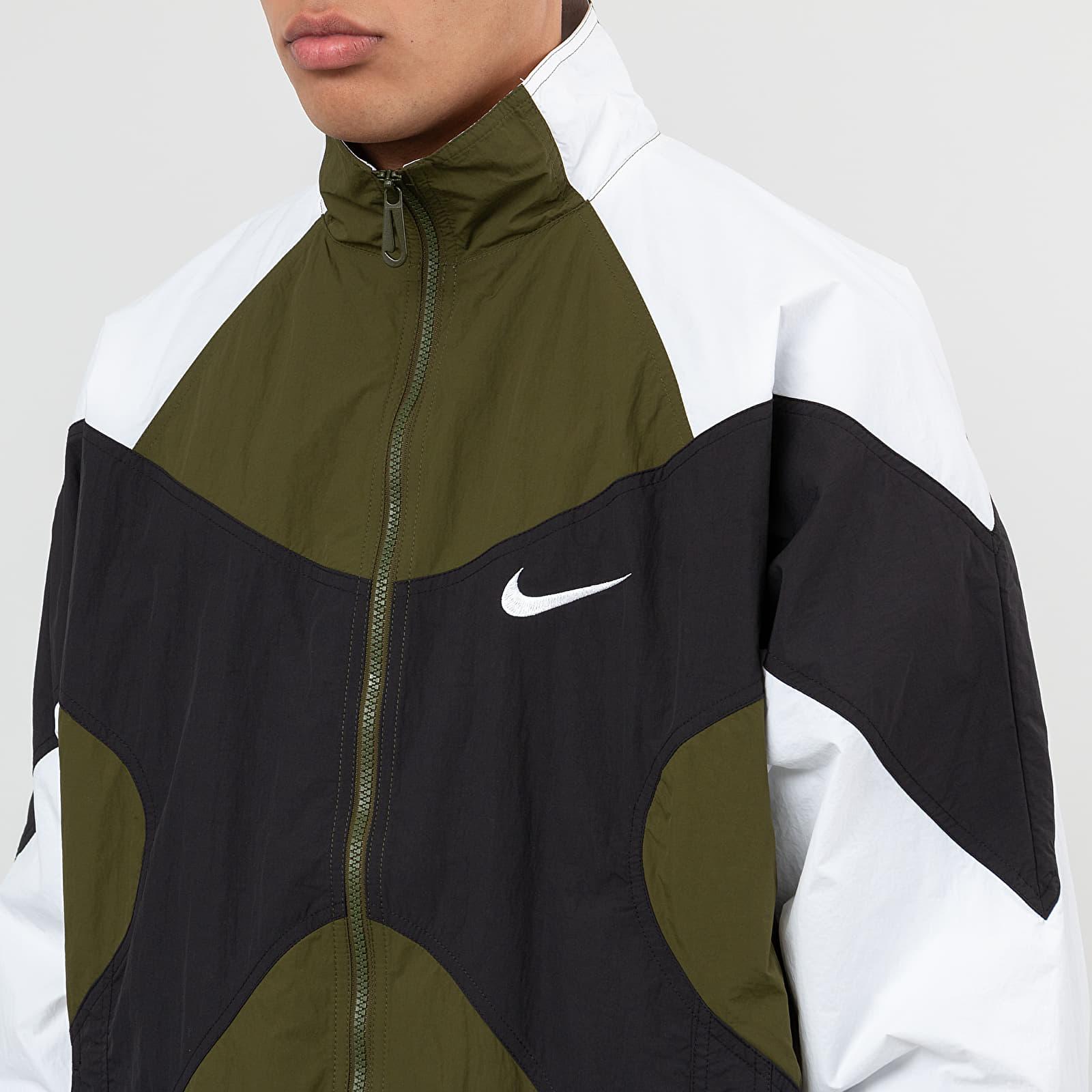 Nike Sportswear Re Issue Jacket Legion Green White Black White   Footshop