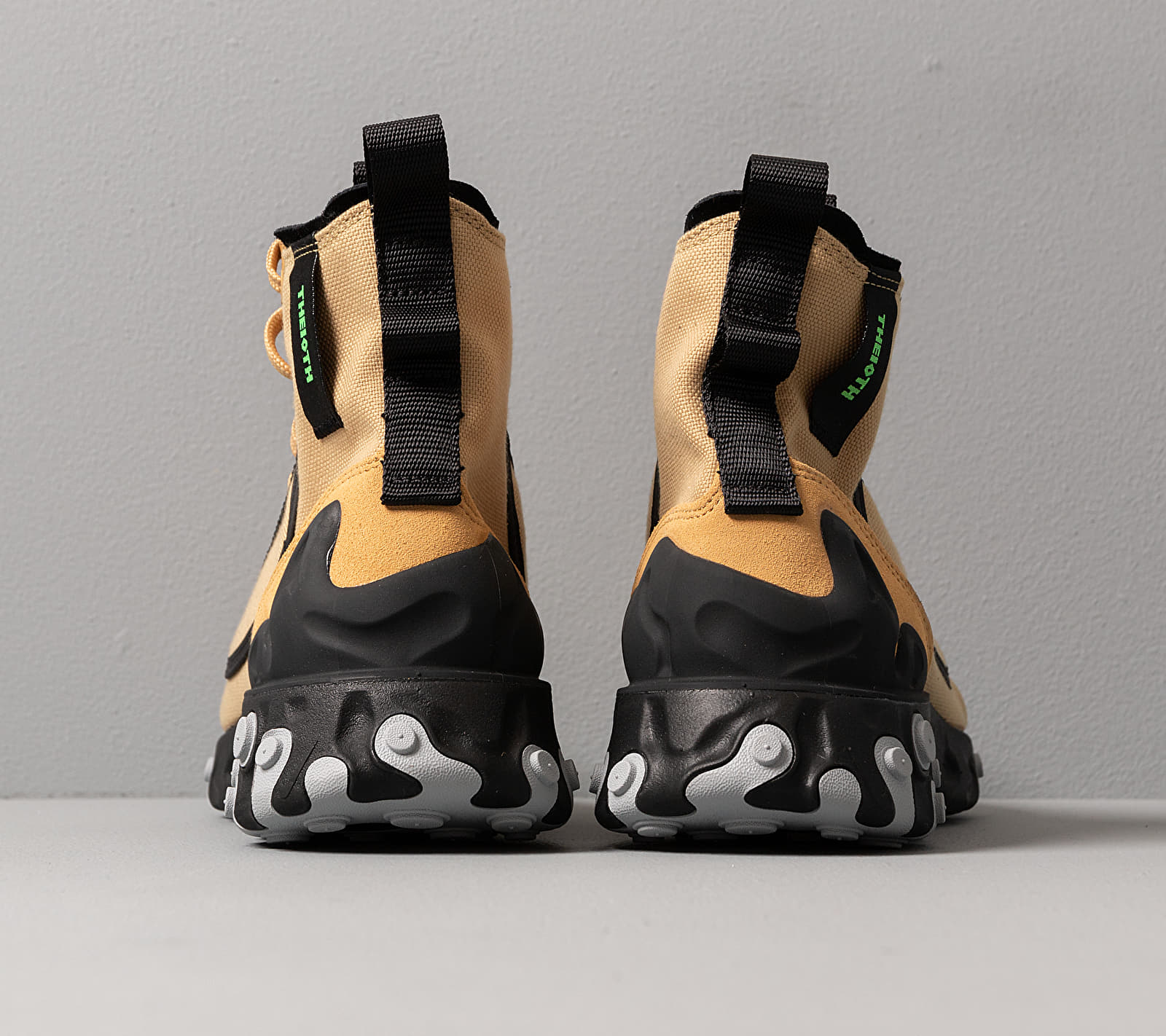 Nike React Ianga Club Gold/ Electric Green-Black-Wolf Grey, Yellow