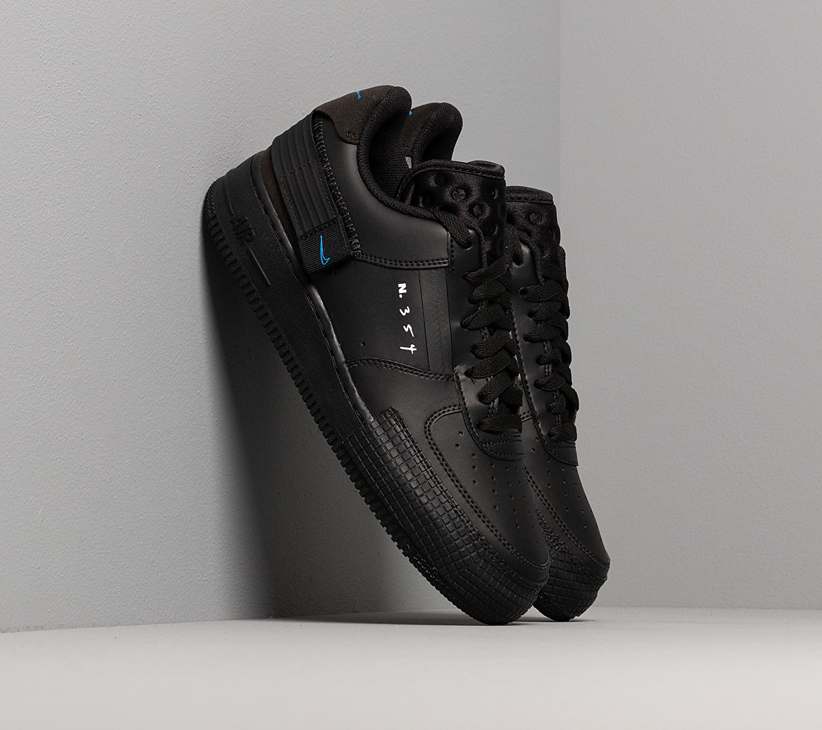 Nike Air Force 1-Type Black/ Photo Blue-Platinum Tint EUR 42