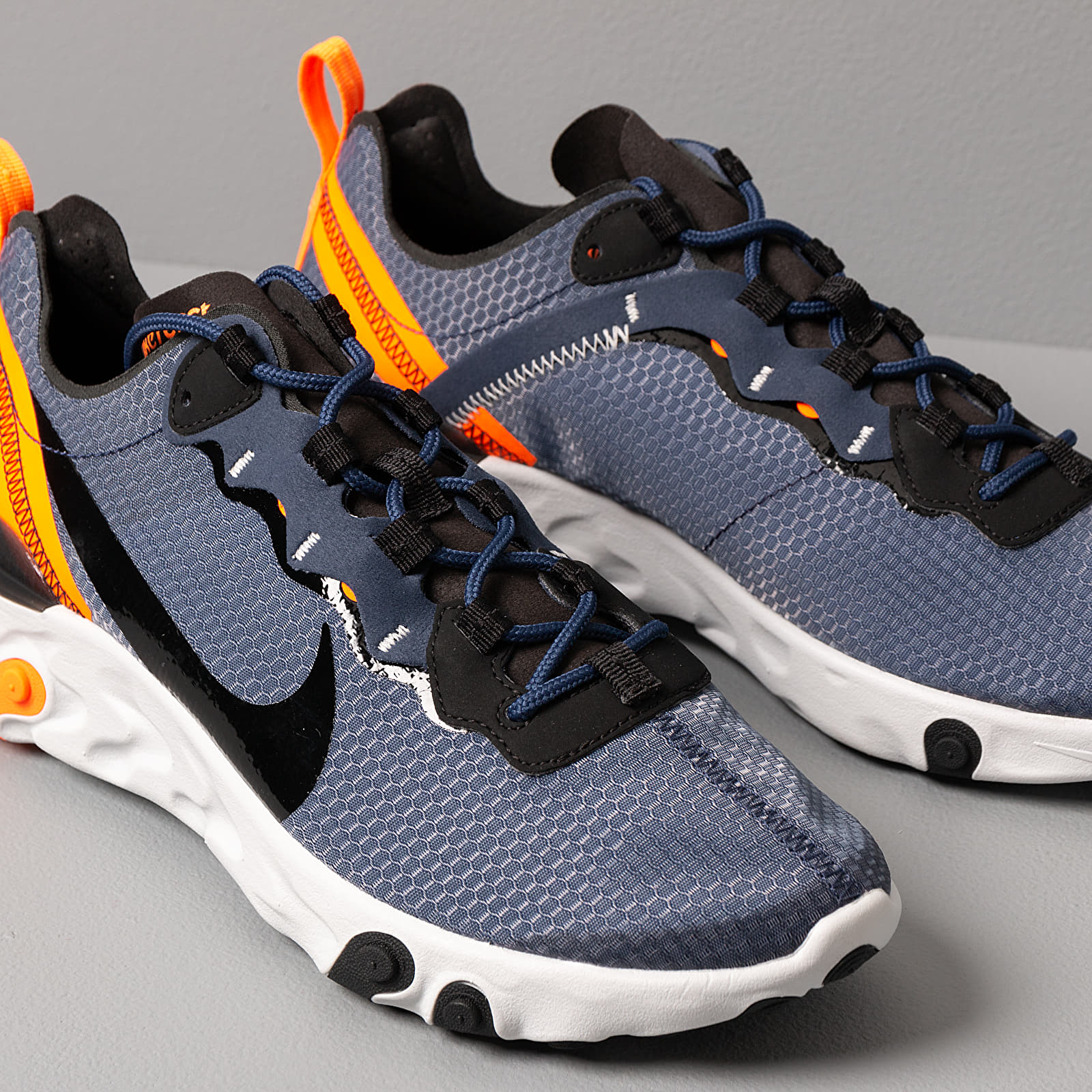Nike React Element 55 Se Midnight Navy Black Total Orange | Footshop