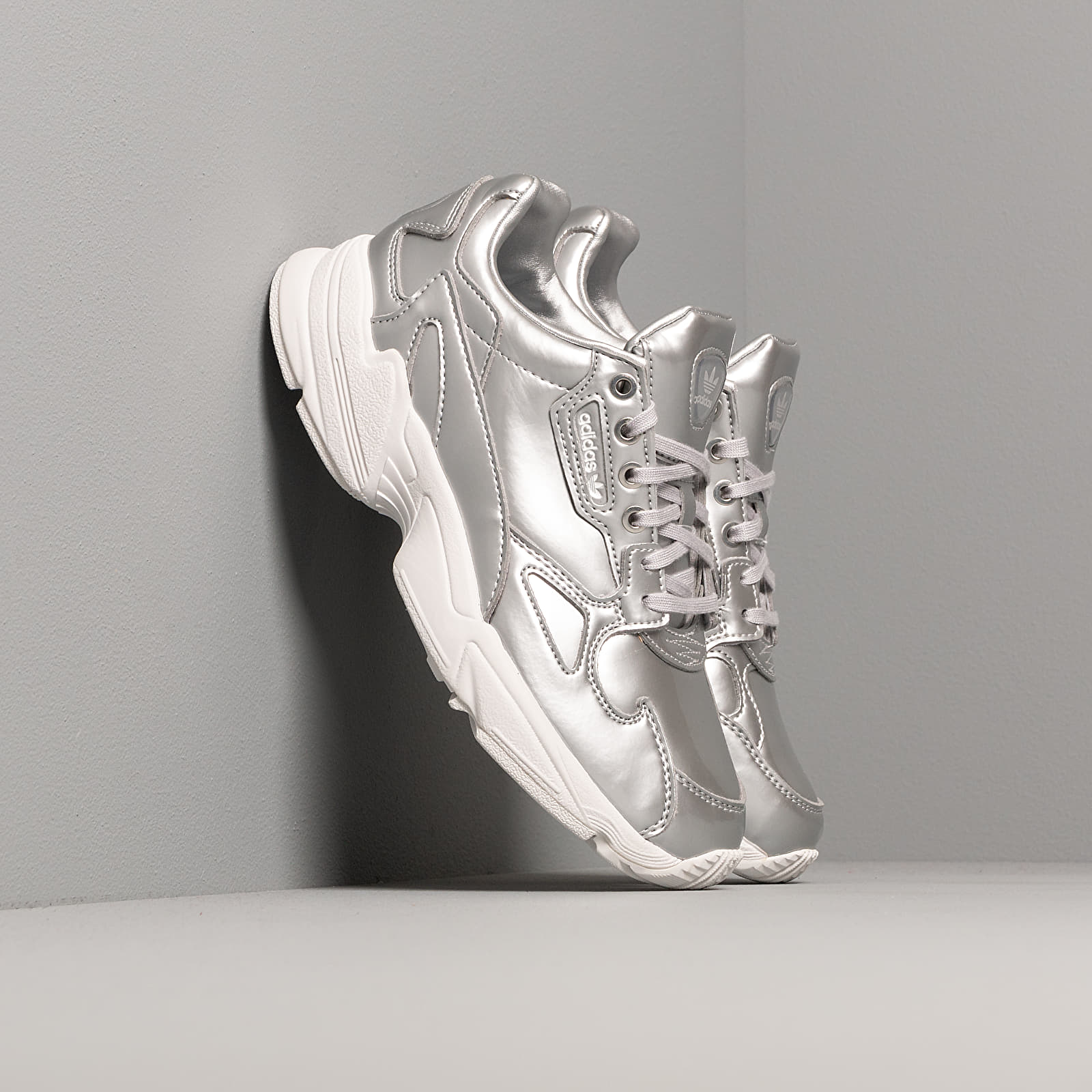 Women's shoes adidas Falcon W Silver Metalic/ Silver Metalic/ Crystal White
