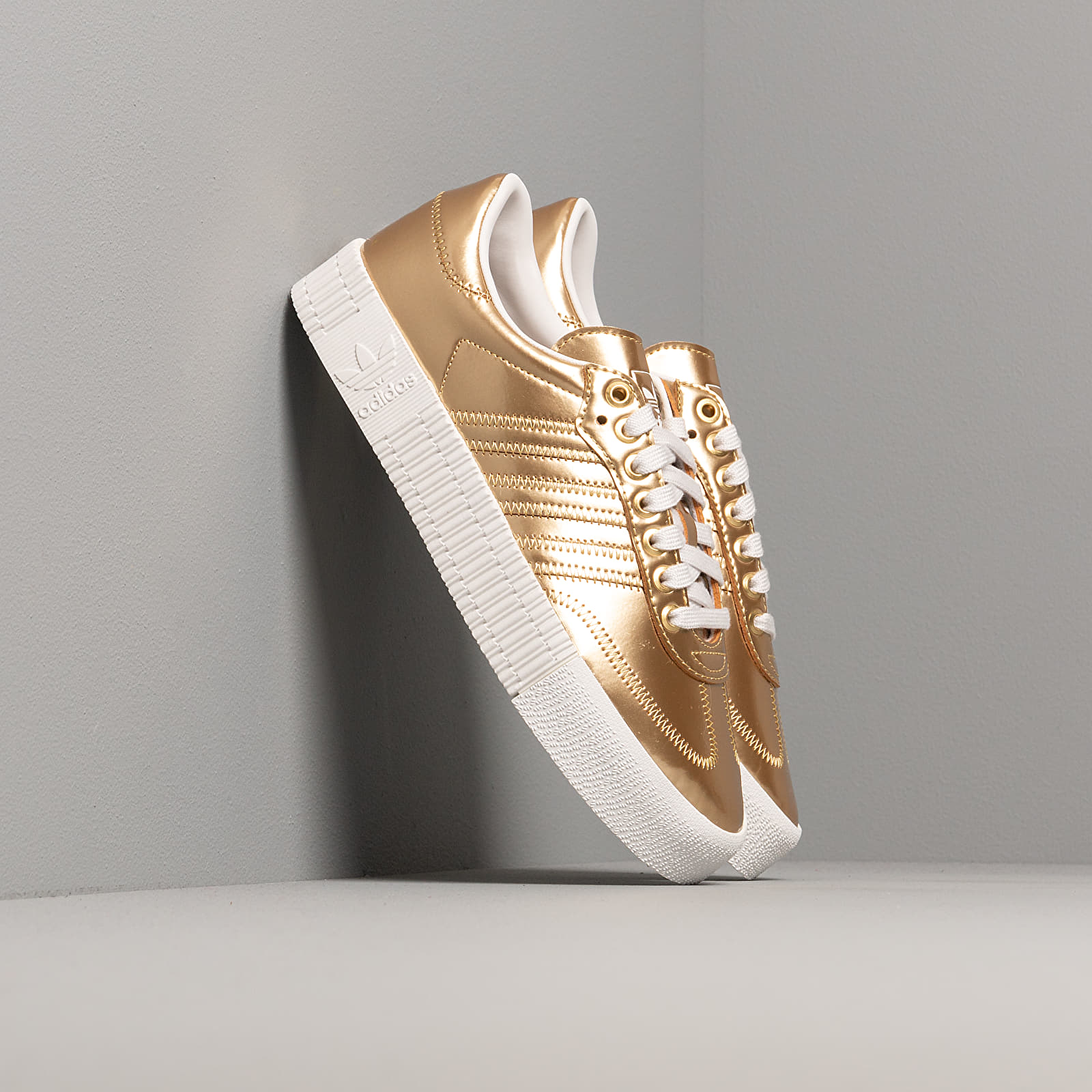 Women's shoes adidas Sambarose W Gold Metalic/ Gold Metalic/ Crystal White