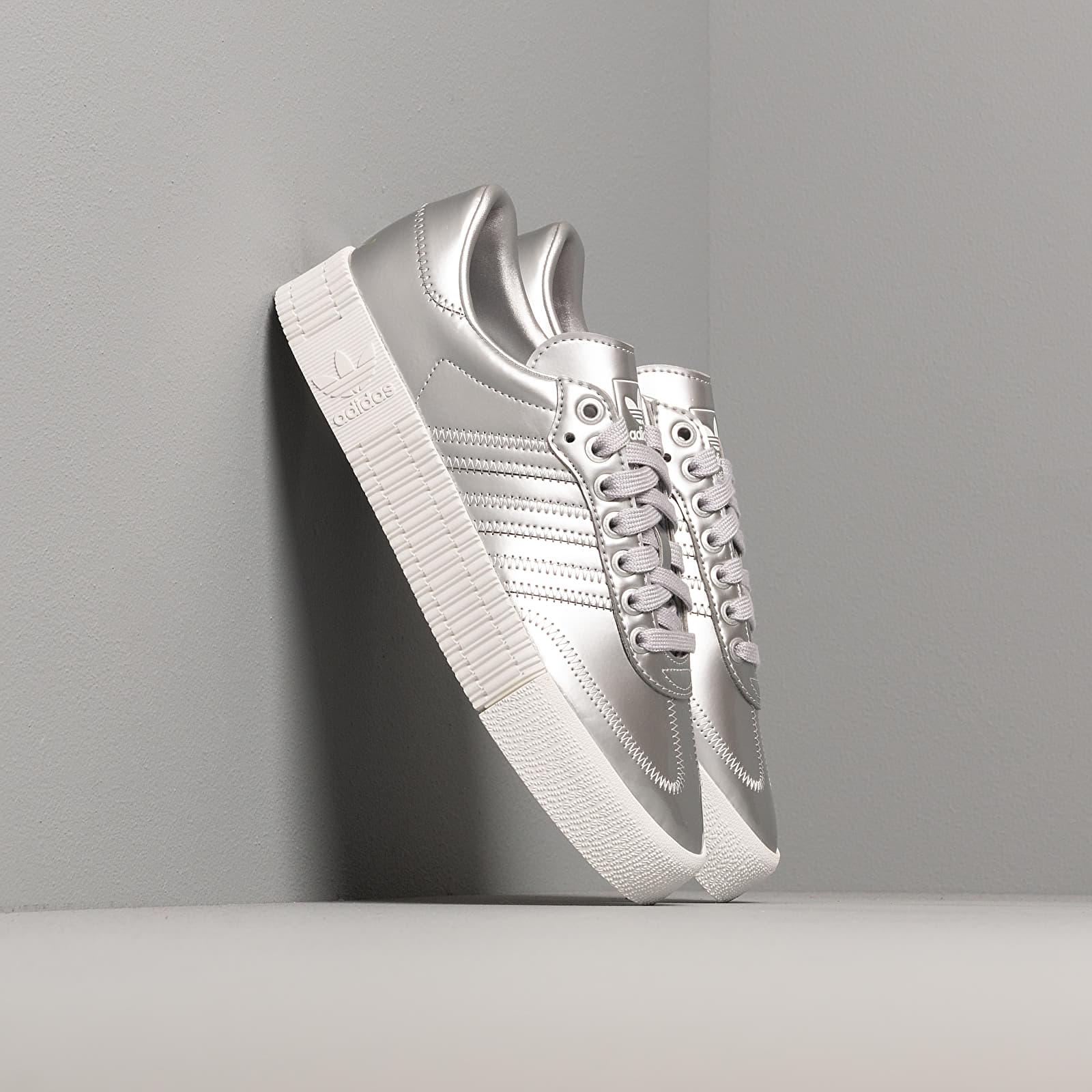 Women's shoes adidas Sambarose W Silver Metalic/ Silver Metalic/ Crystal White