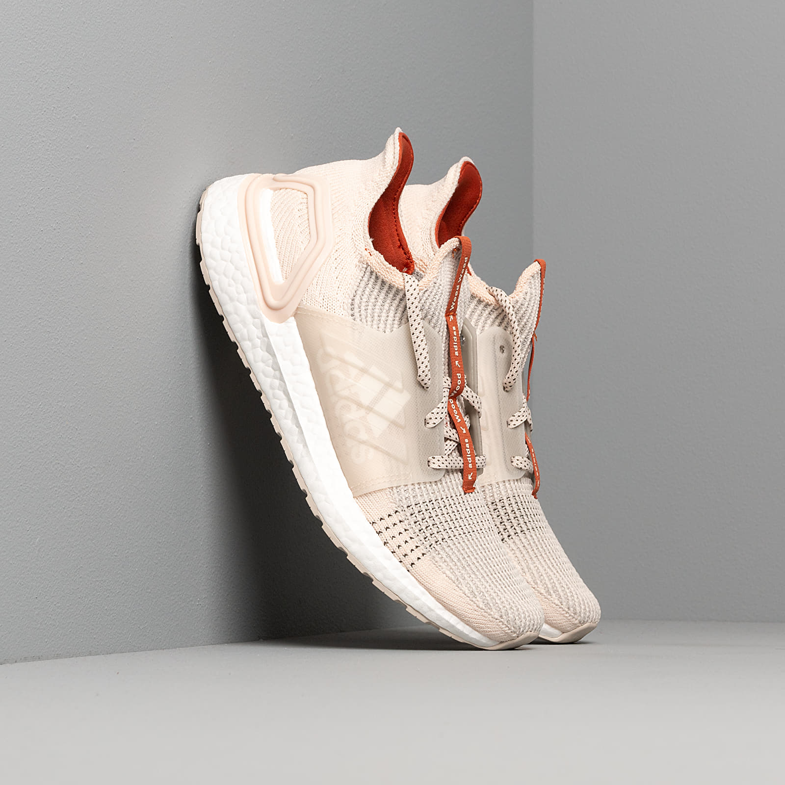 Men's shoes adidas x Wood Wood UltraBOOST 19 Linen/ Fox Red/ Clear Brown