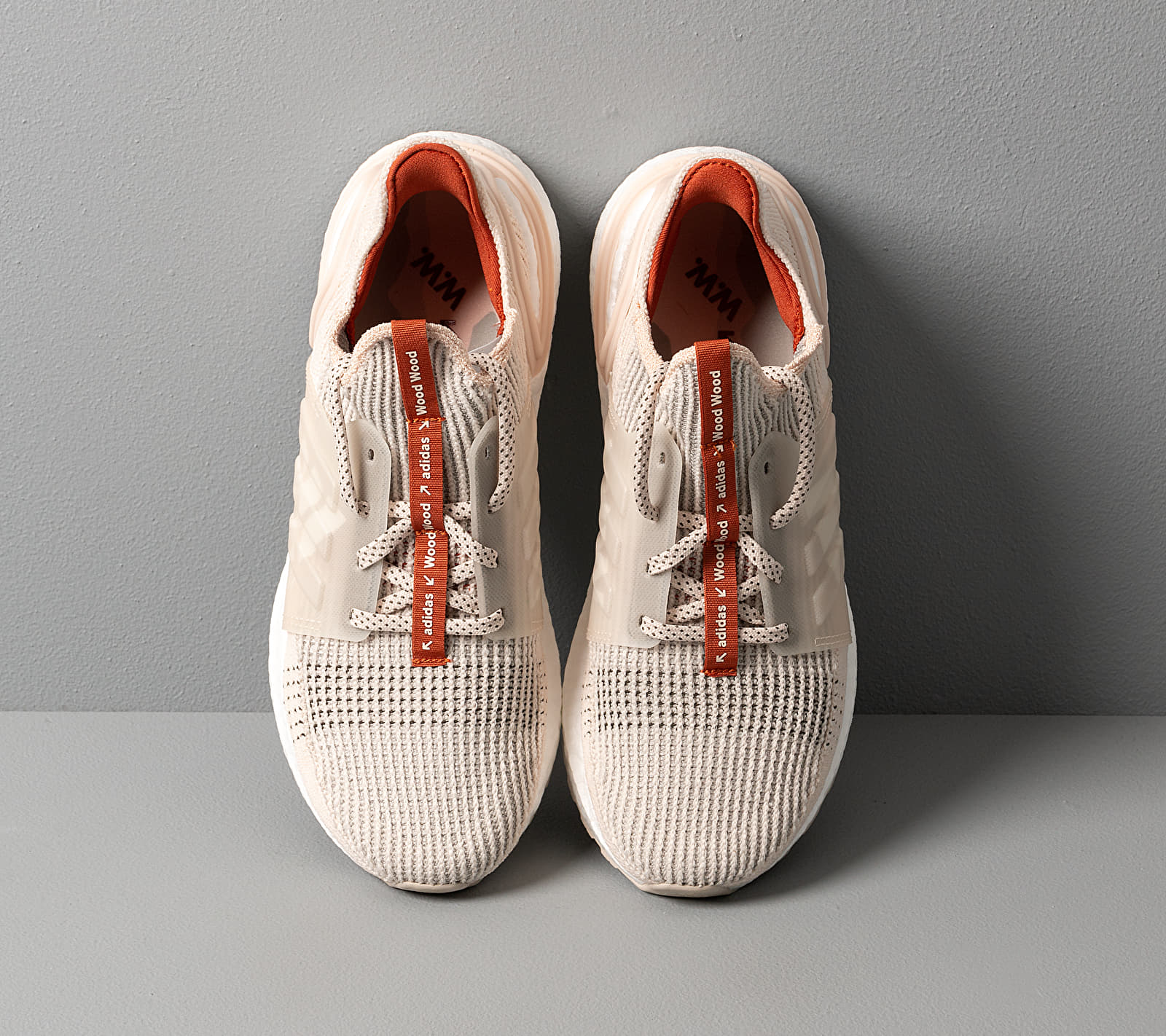 adidas x Wood Wood UltraBOOST 19 Linen/ Fox Red/ Clear Brown