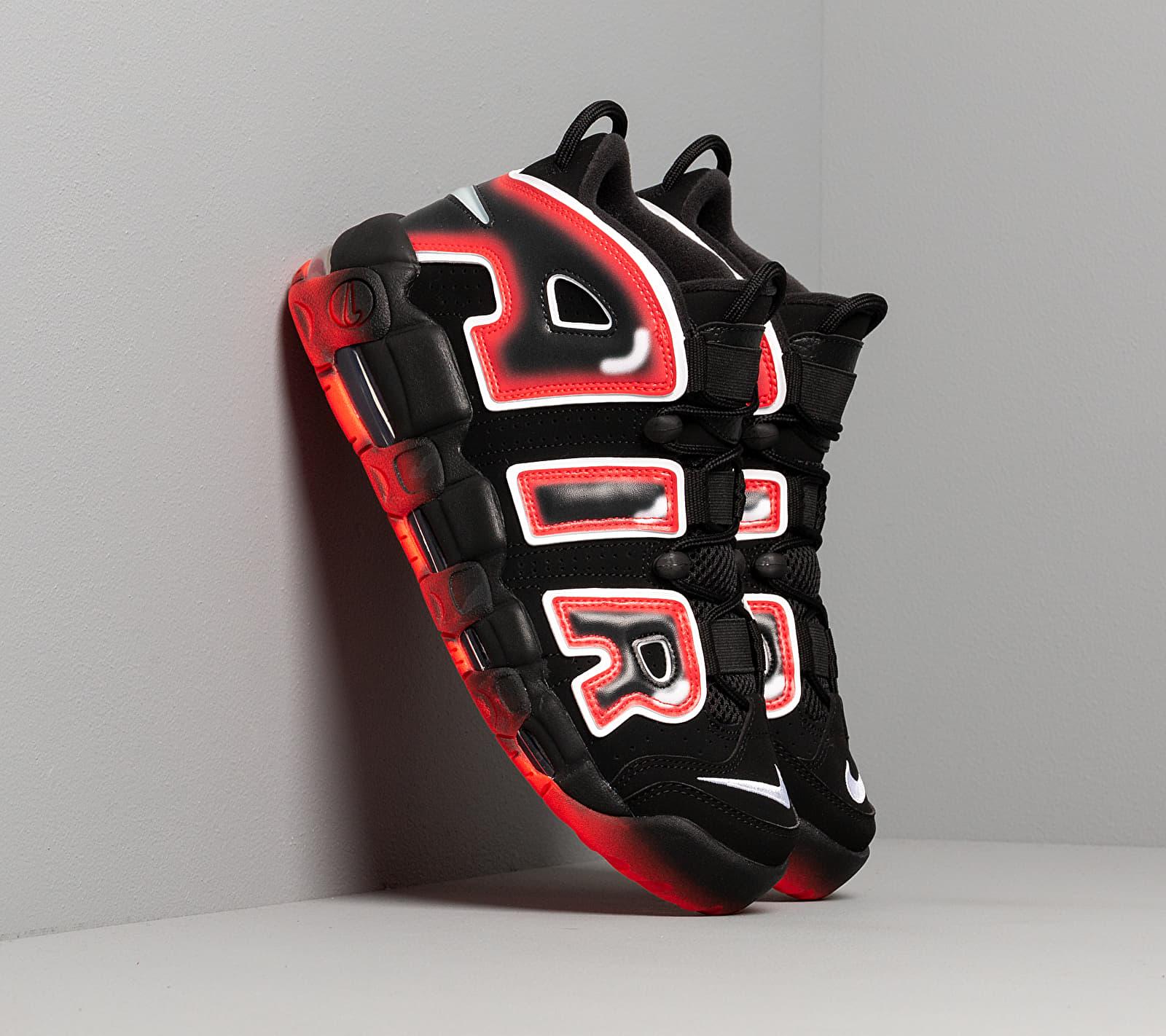 Nike Air More Uptempo '96 Black/ White-Laser Crimson EUR 43