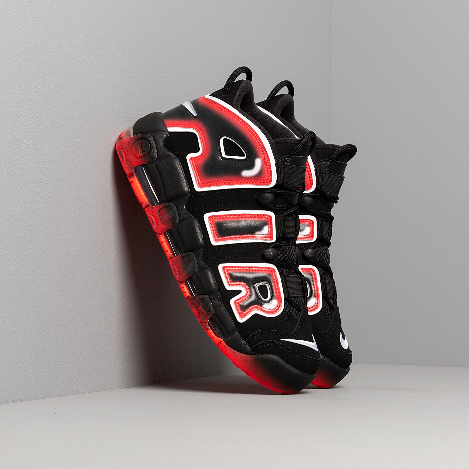 Nike Air More Uptempo '96Black White Laser Crimson