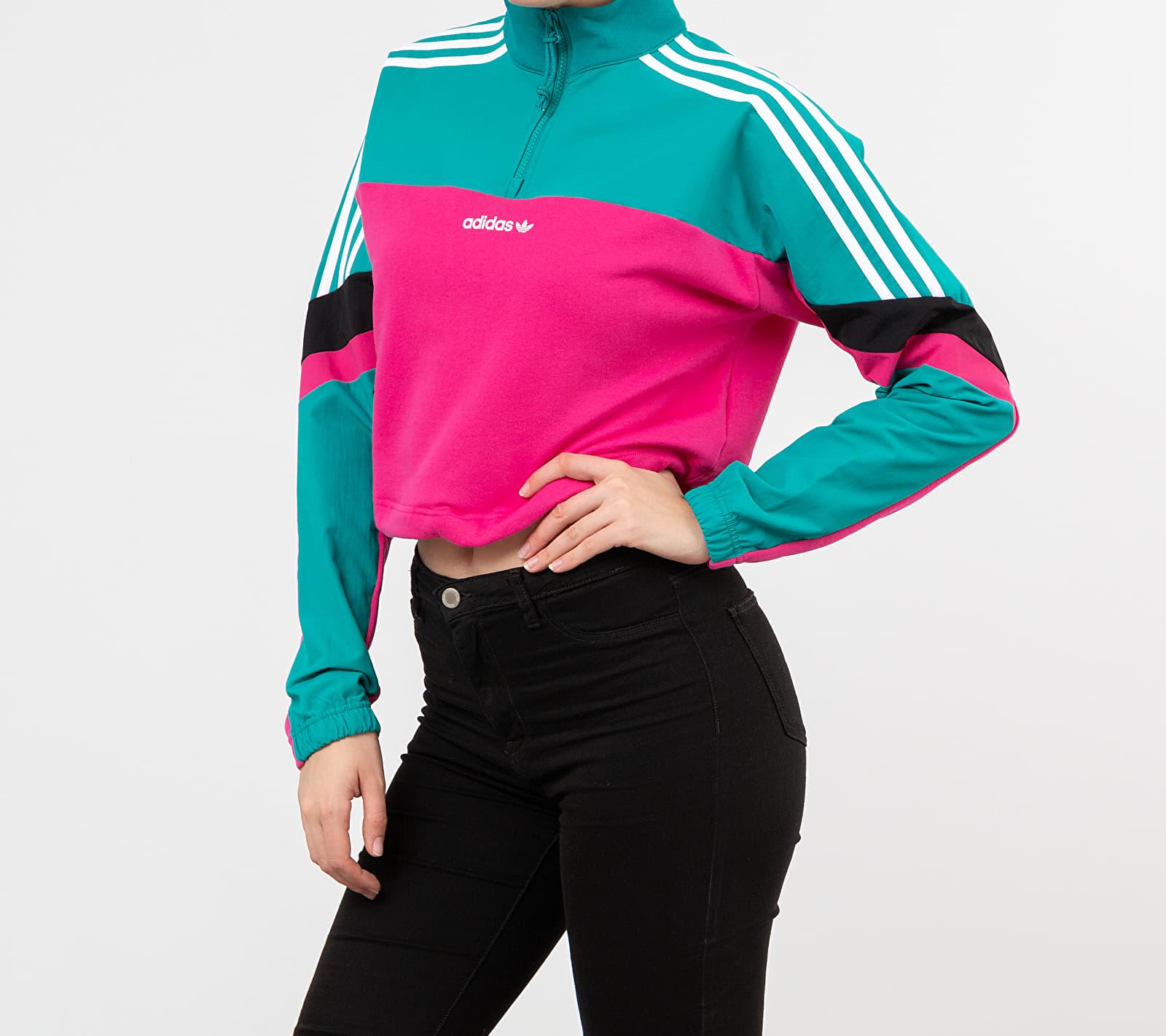 adidas Cropped Top Real Magenta/ Black Emerald, Pink
