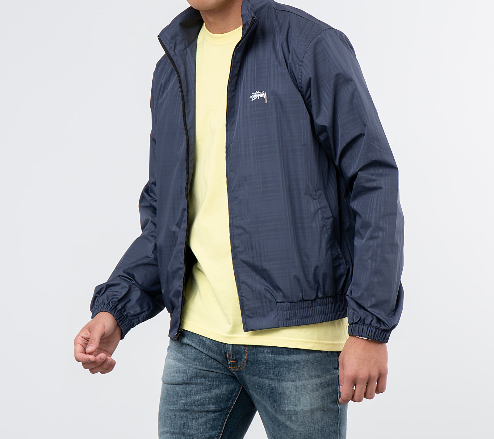 Stüssy Plaid Track Jacket Navy, Blue