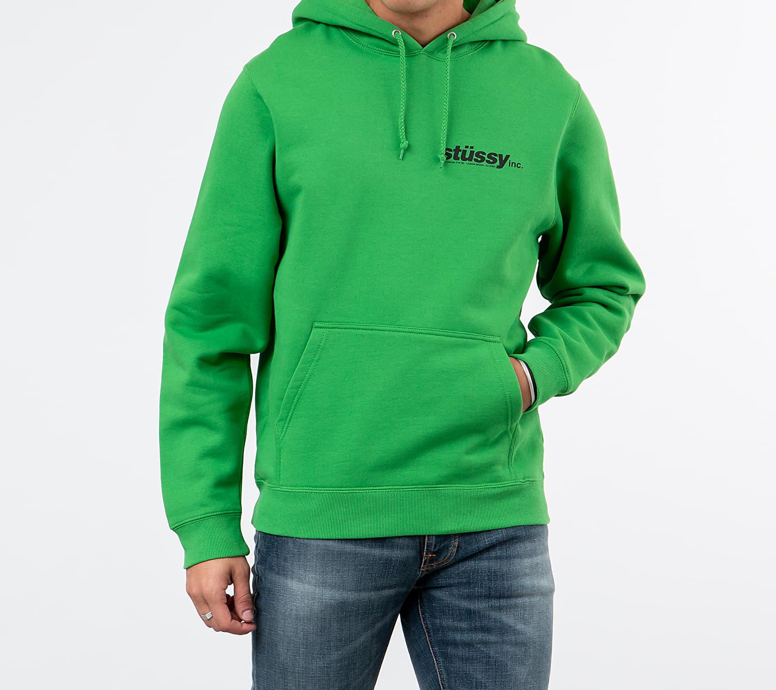 Stüssy Italic Hoodie Kelly, Green