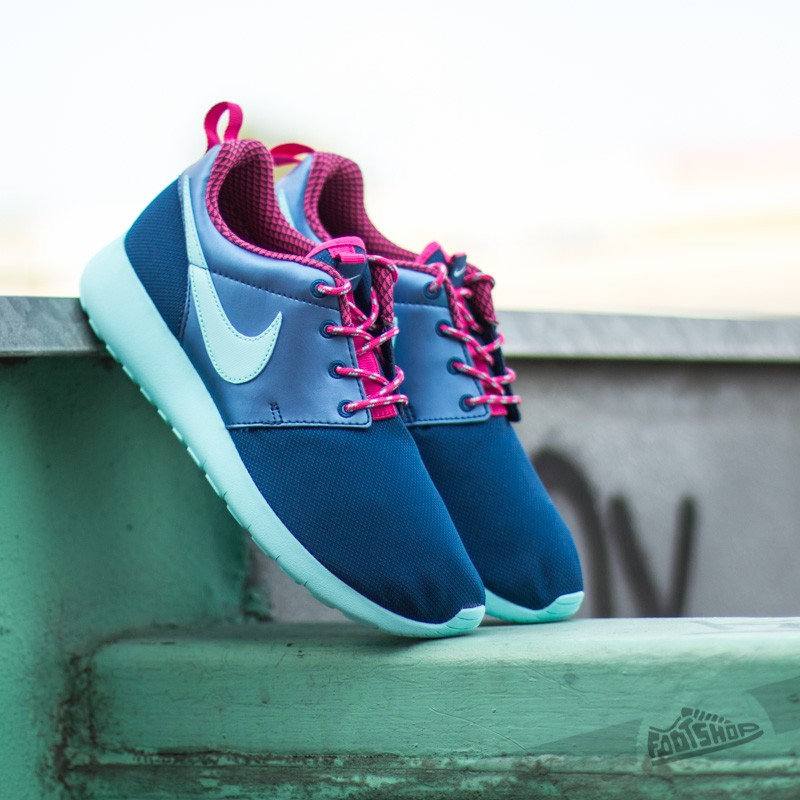 1750a7bc7bc1 Nike Roshe One (GS) Hyper Pink  Insignia Blue  Copa-Vivid Pink ...