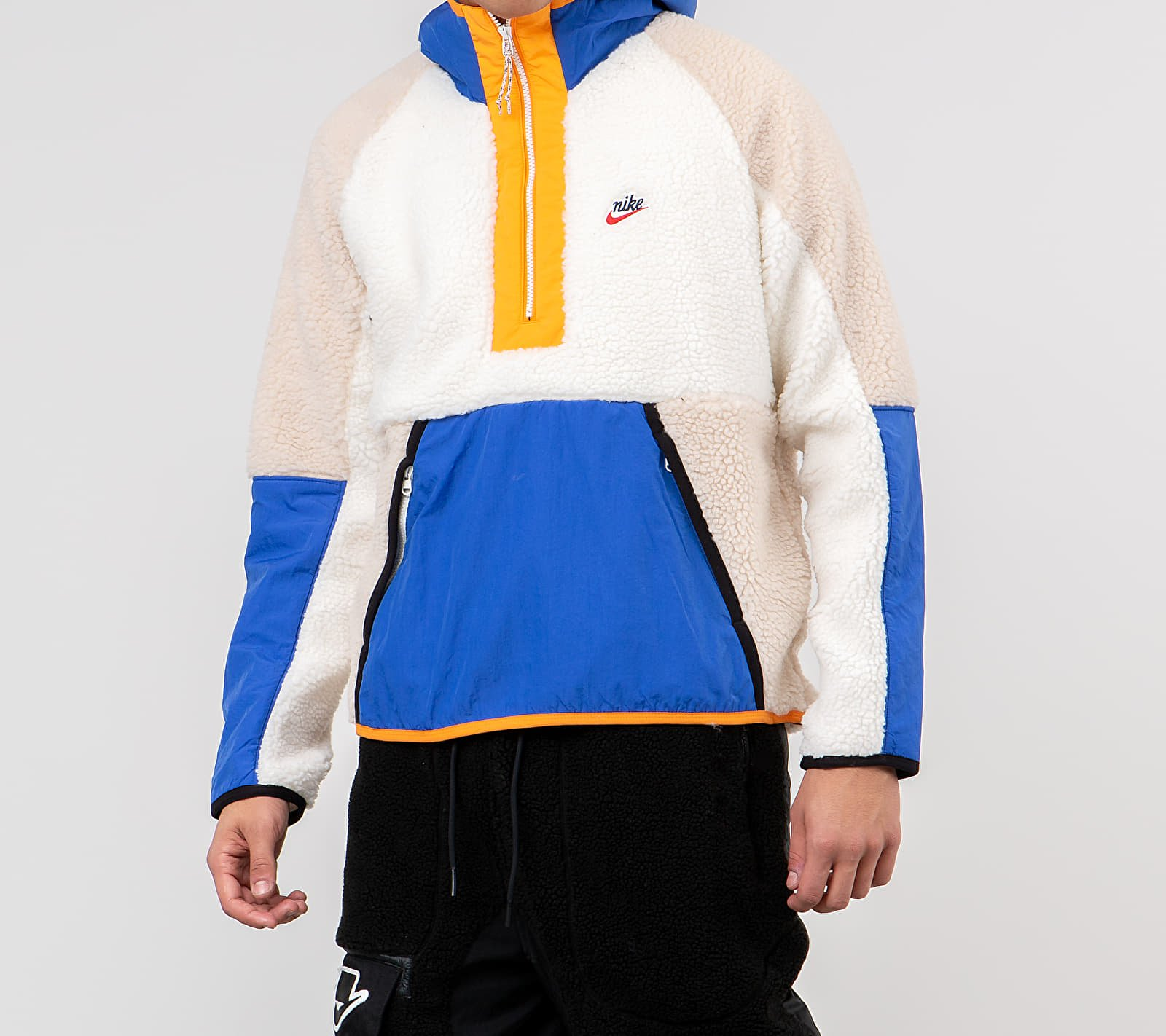Nike Sportswear Halfzip Winter Hoodie Sail/ Game Royal/ Desert Sand, Multicolour
