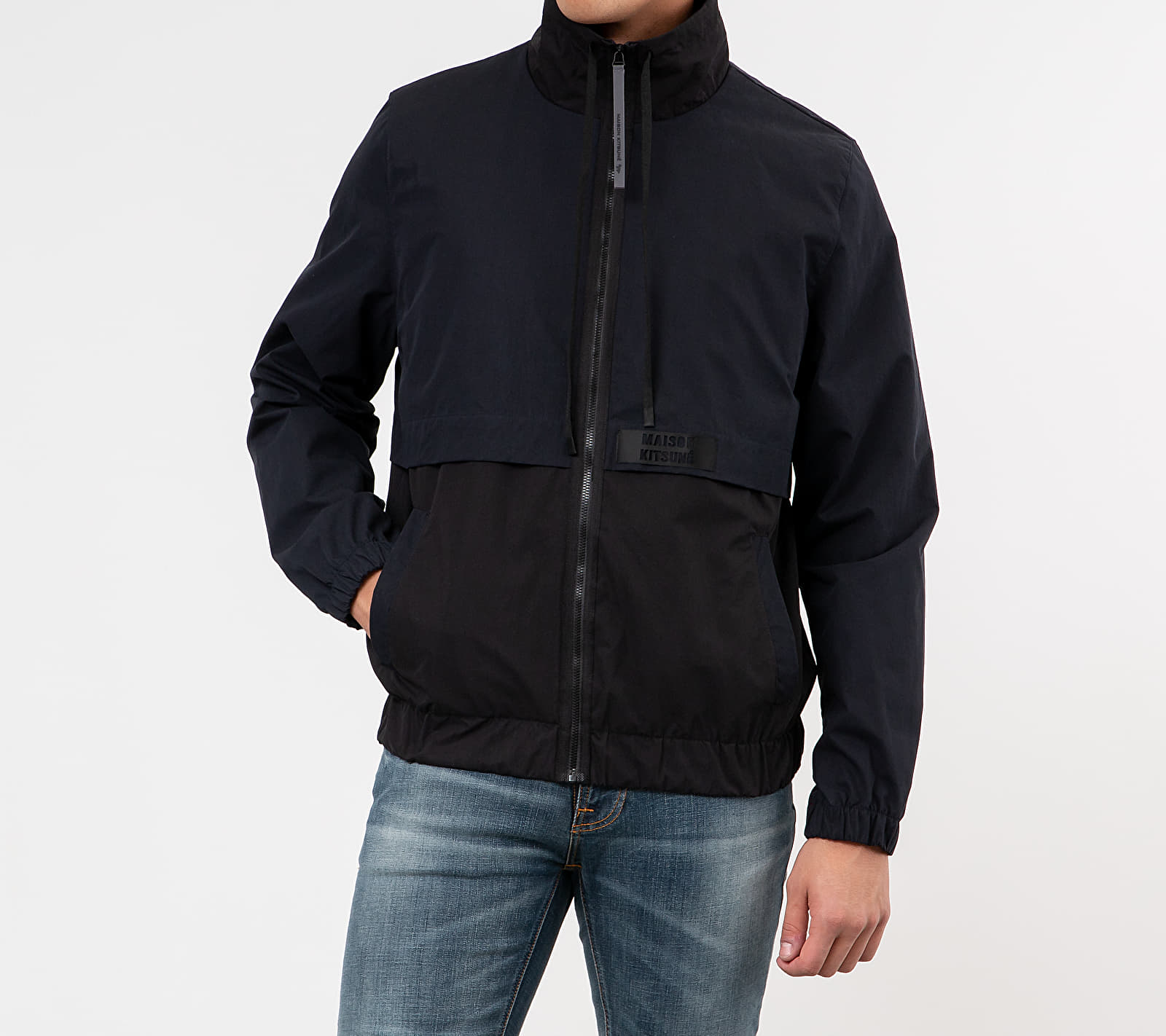 MAISON KITSUNÉ Acide Windbreaker Black/ Navy