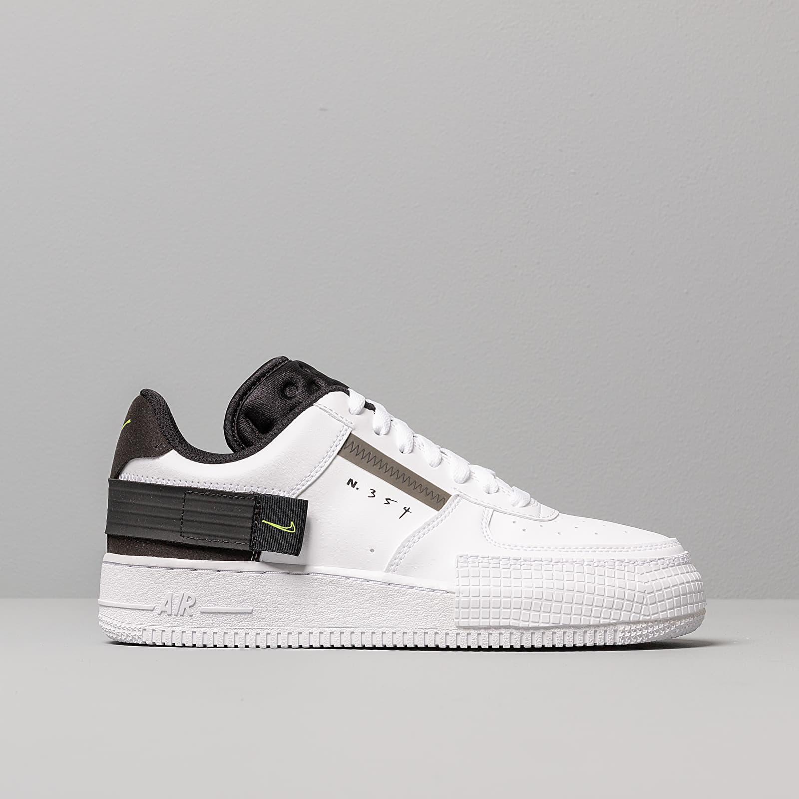 Nike Air Force 1 Type White Volt Black White | Footshop