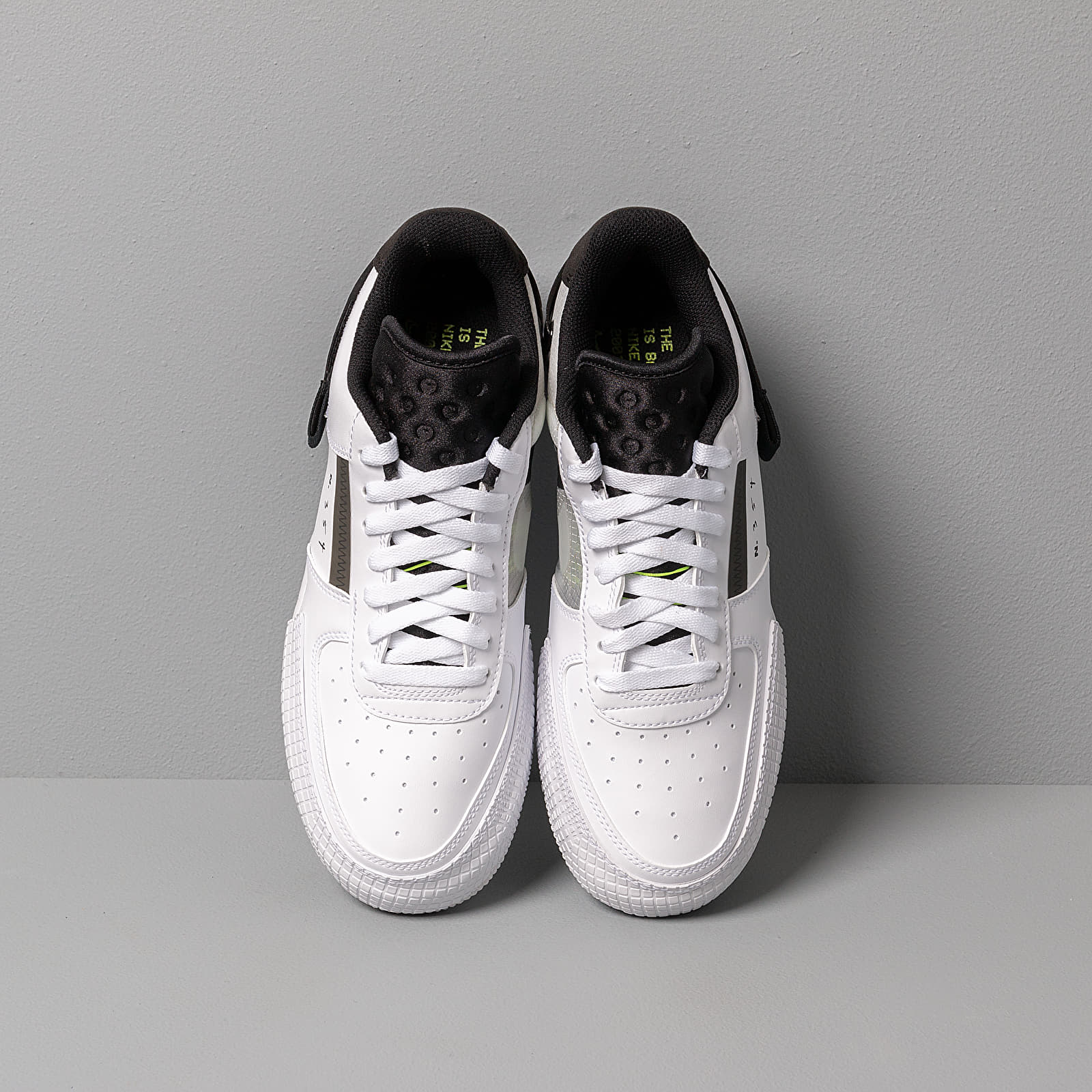 Nike Air Force 1 Type White Volt Black White AT7859 101