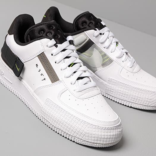 Men's shoes Nike Air Force 1-Type White/ Volt-Black-White   Footshop