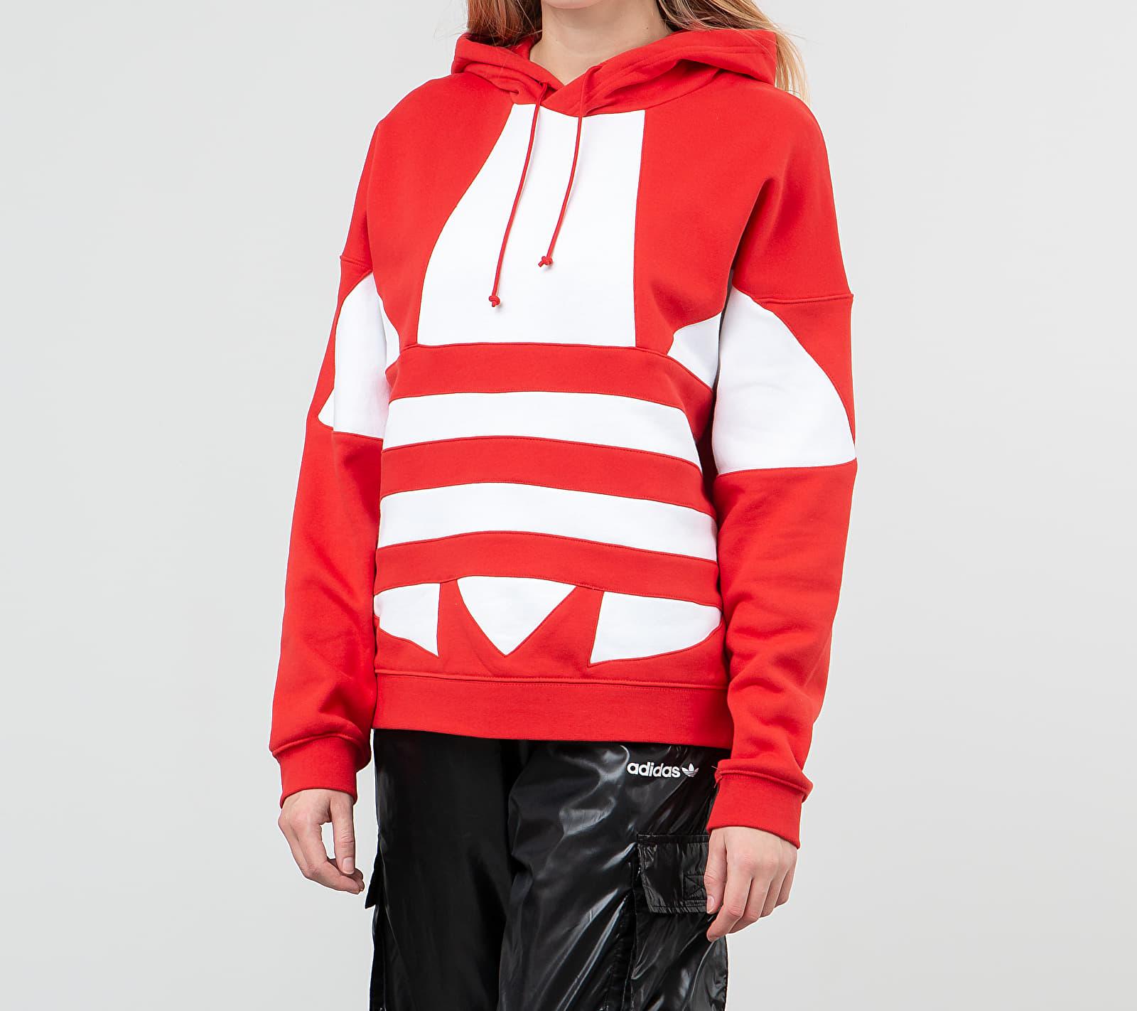 adidas Large Logo Hoodie Lush Red/ White