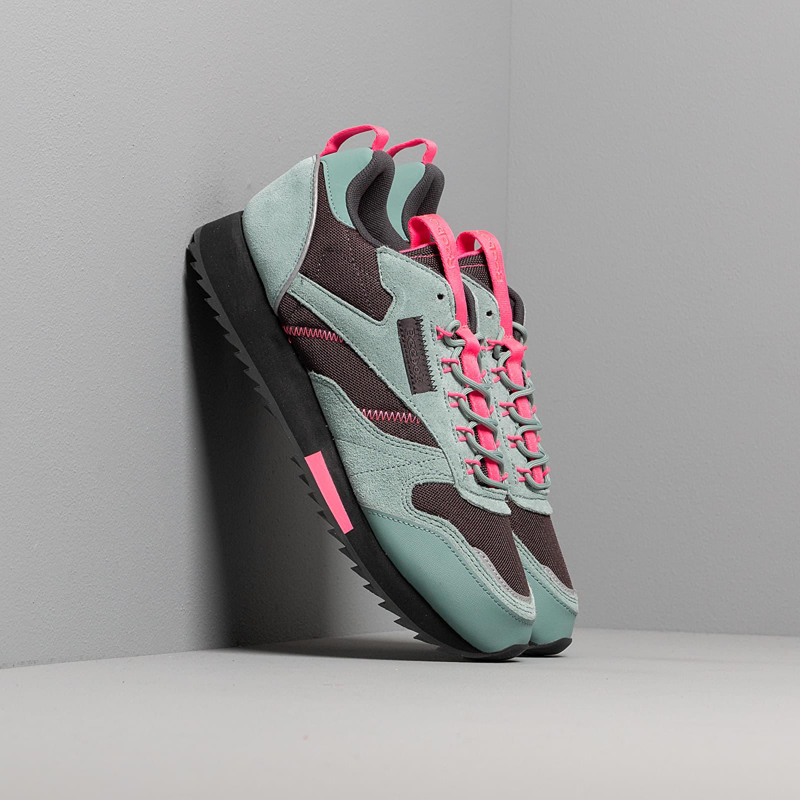 Reebok Classic Leather Ripple Trail Green Slate True Grey 8 Solar Pink | Footshop