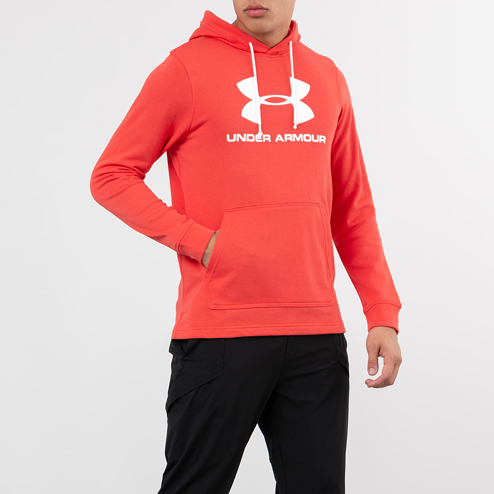 Sweatshirts Under Armour Sportstyle Terry Logo Hoodie Red