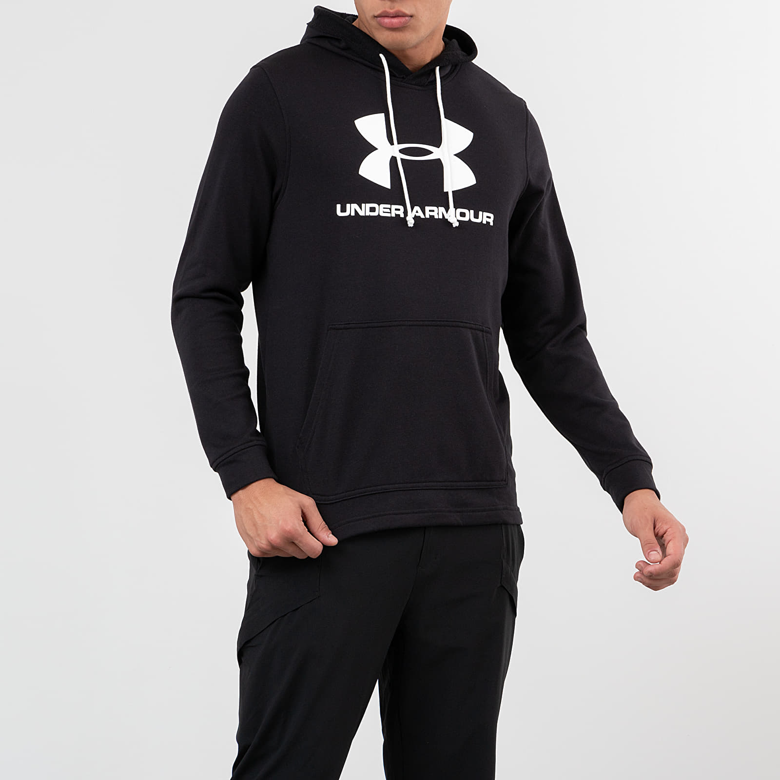 Mikiny a svetry Under Armour Sportstyle Terry Logo Hoodie Black