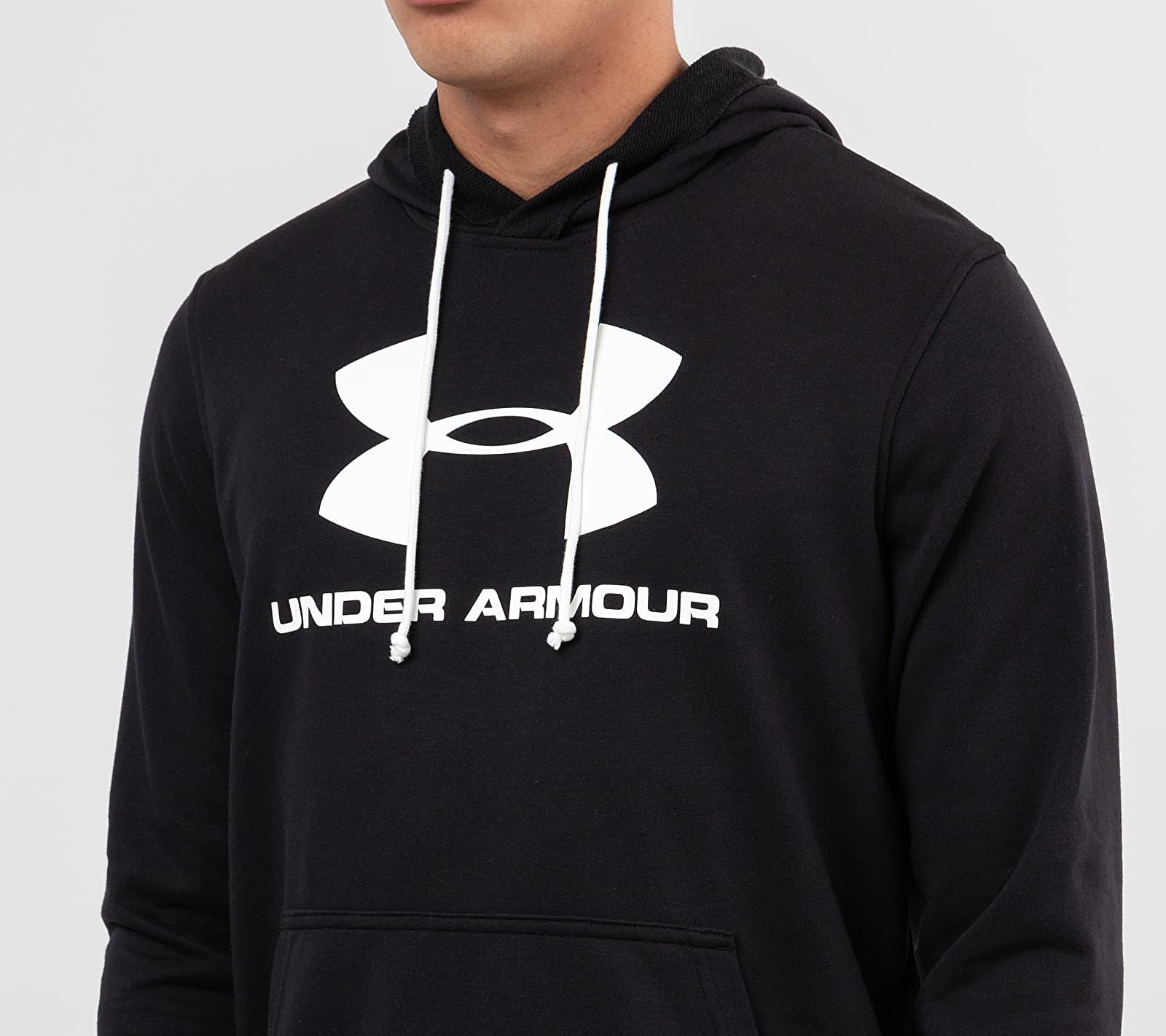 Under Armour Sportstyle Terry Logo Hoodie Black