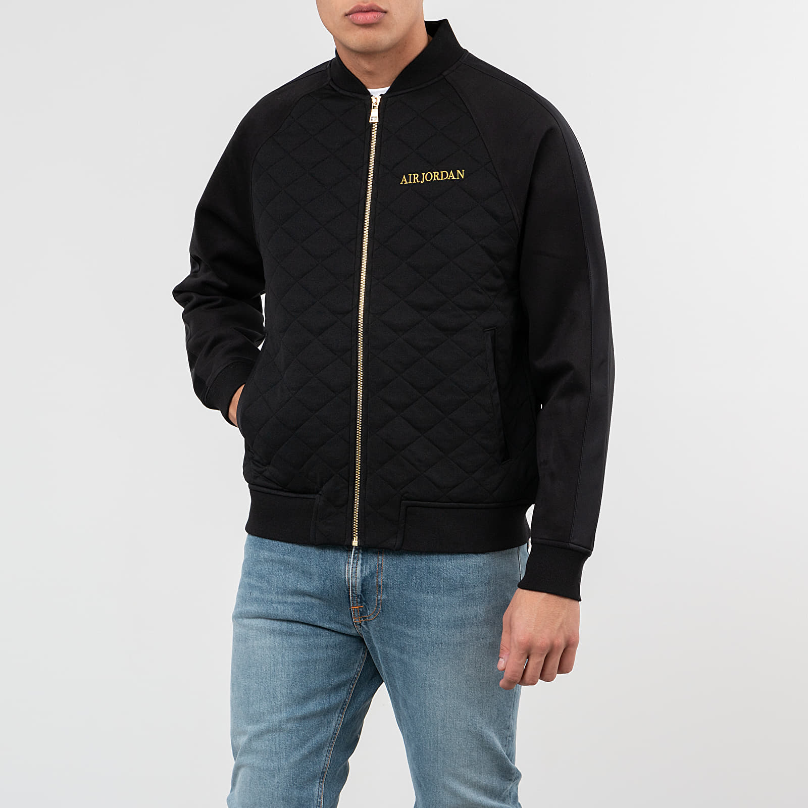 Jackets Jordan Remastered Quilted Jacket Black/ Black/ Black/ Metallic Gold