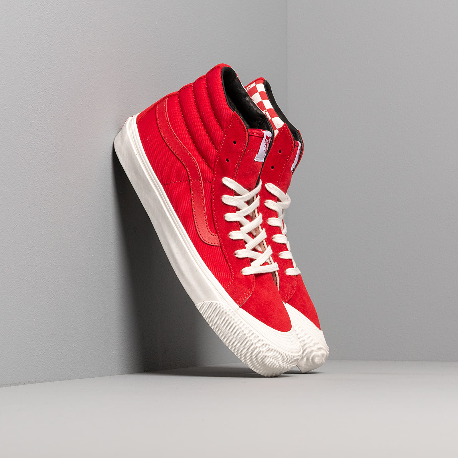 Pánské kotníkové boty Vans OG Style 138 LX (Suede/ Canvas) Racing Red