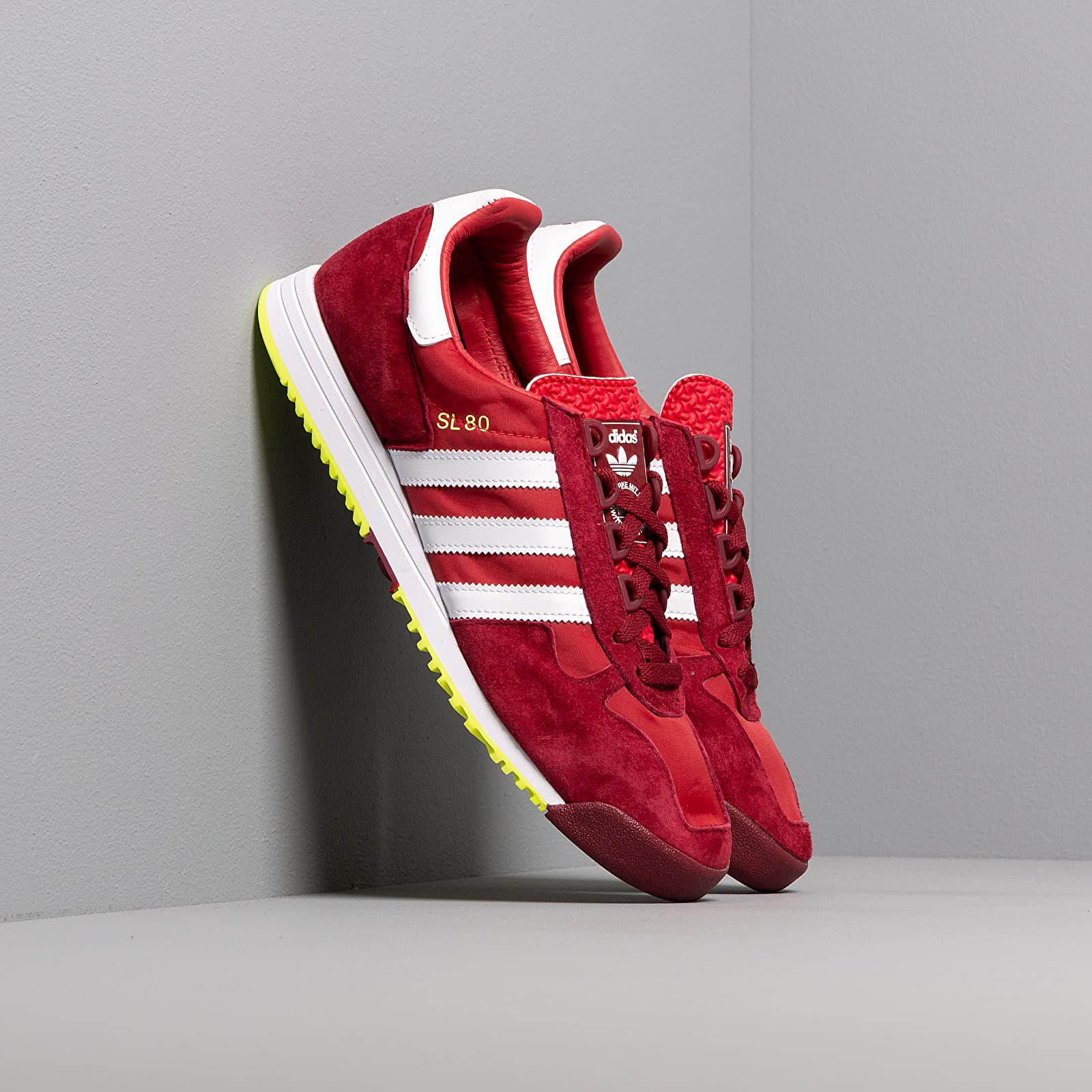 Men's shoes adidas SL 80 Scarlet/ Ftw White/ Core Burgundy