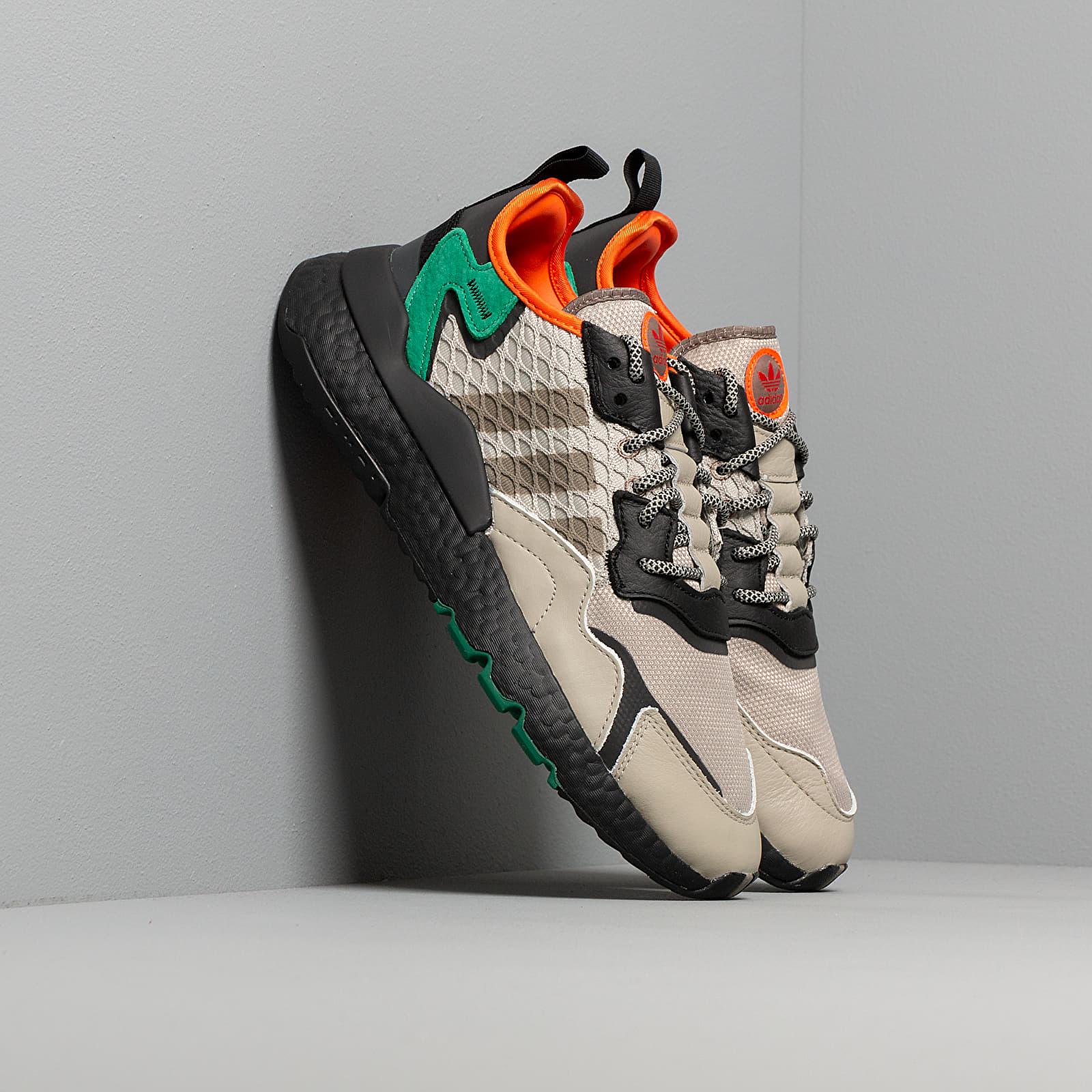 adidas Nite Jogger Sesame Core Black Bright Green | Footshop