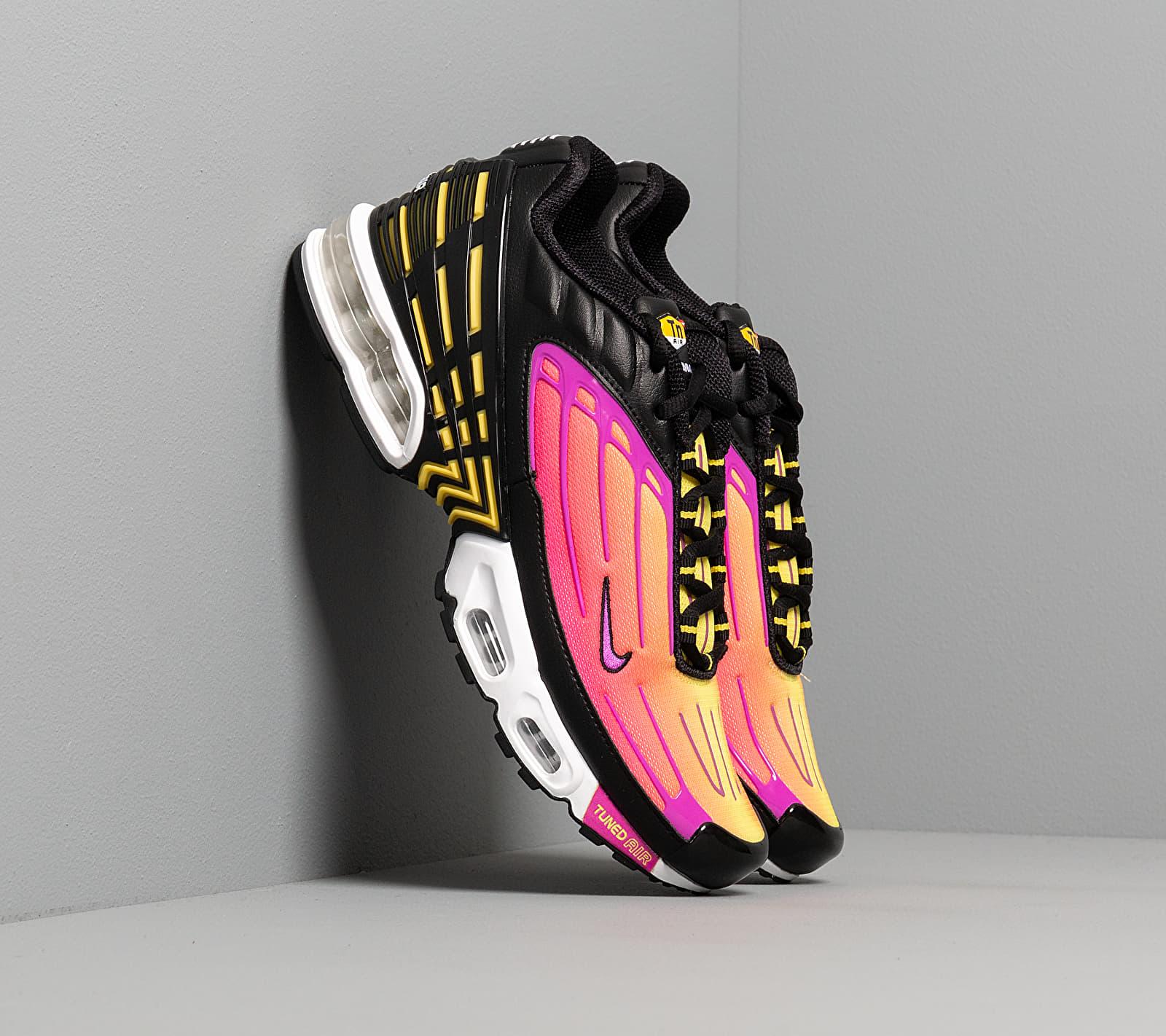 Nike Air Max Plus III Black/ Hyper Violet-Dynamic Yellow EUR 43