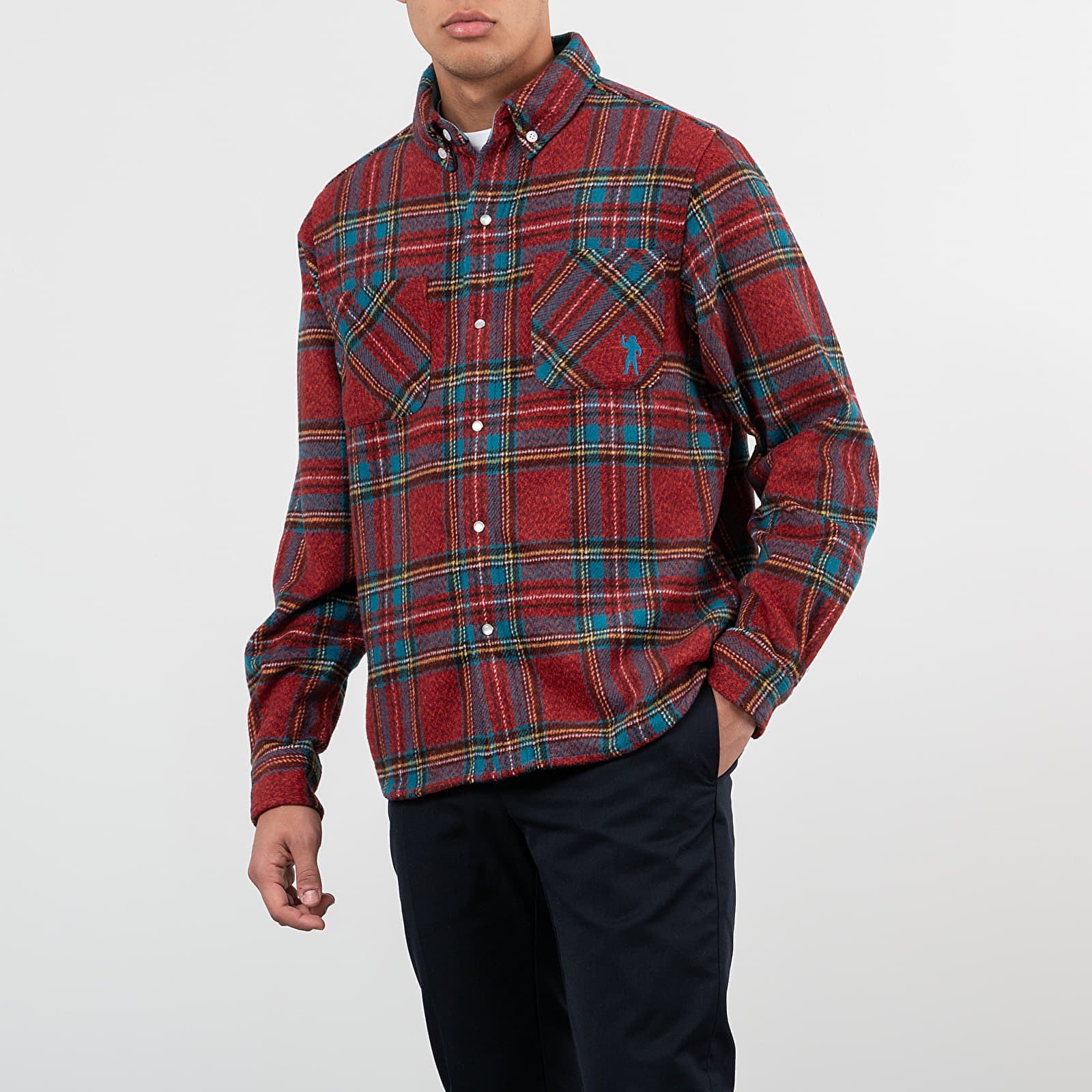 Košile Billionaire Boys Club Check Flannel Shirt Blue