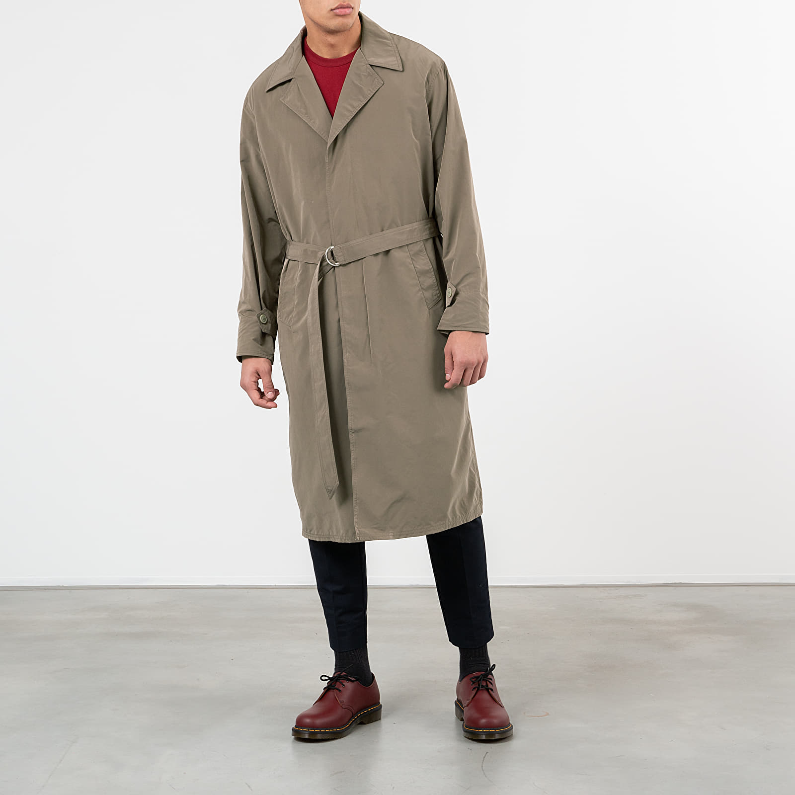 Kabáty Our Legacy Longfin Coat Velvet Grey