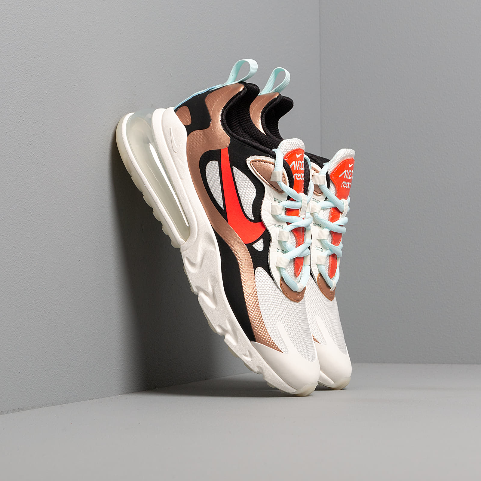 Women's shoes Nike Wmns Air Max 270 React Sail/ Black-Mtlc Red Bronze-Pure Platinum