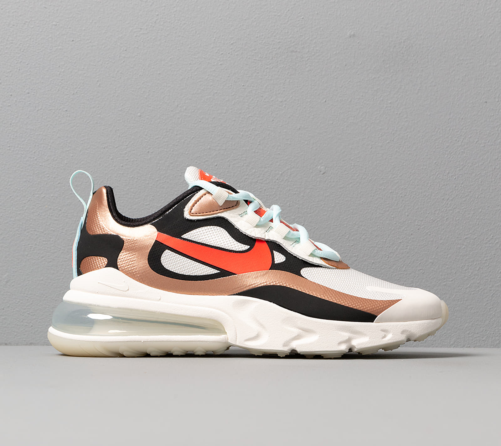 Nike Wmns Air Max 270 React Sail/ Black-Mtlc Red Bronze-Pure Platinum, Brown
