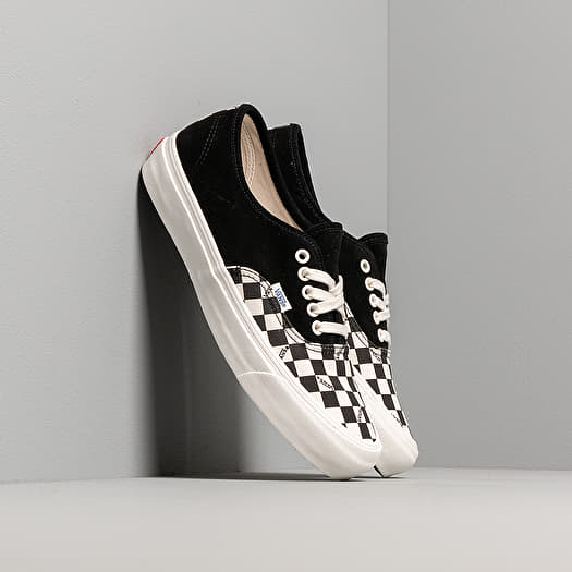 Vans OG Authentic LX (Suede Canvas) Black Checkerboard | Footshop