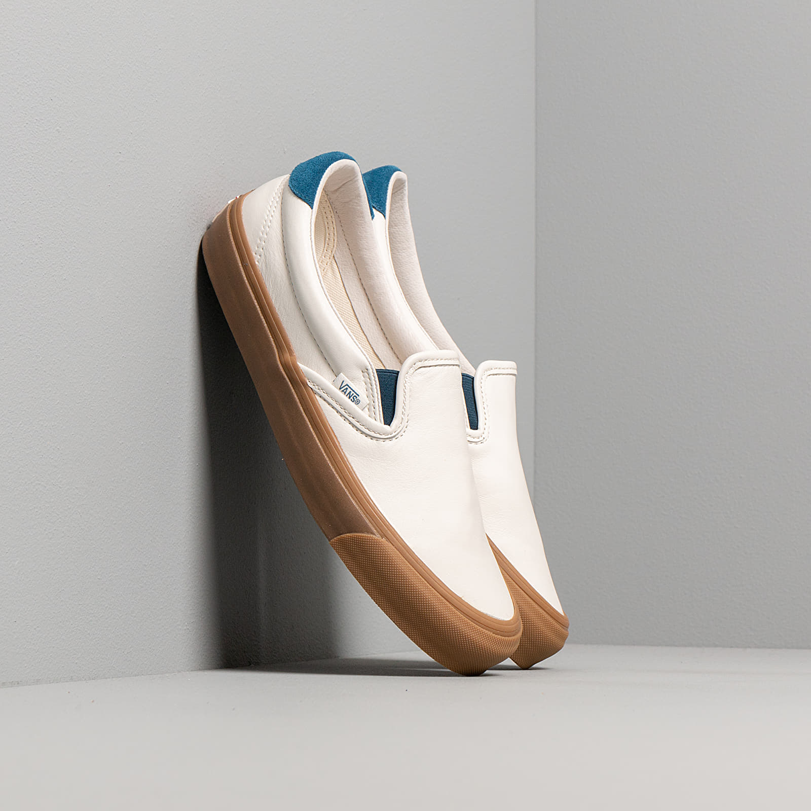 Chaussures et baskets homme Vans OG Slip-On 59 LX (Leather/ Suede) Marshmallow