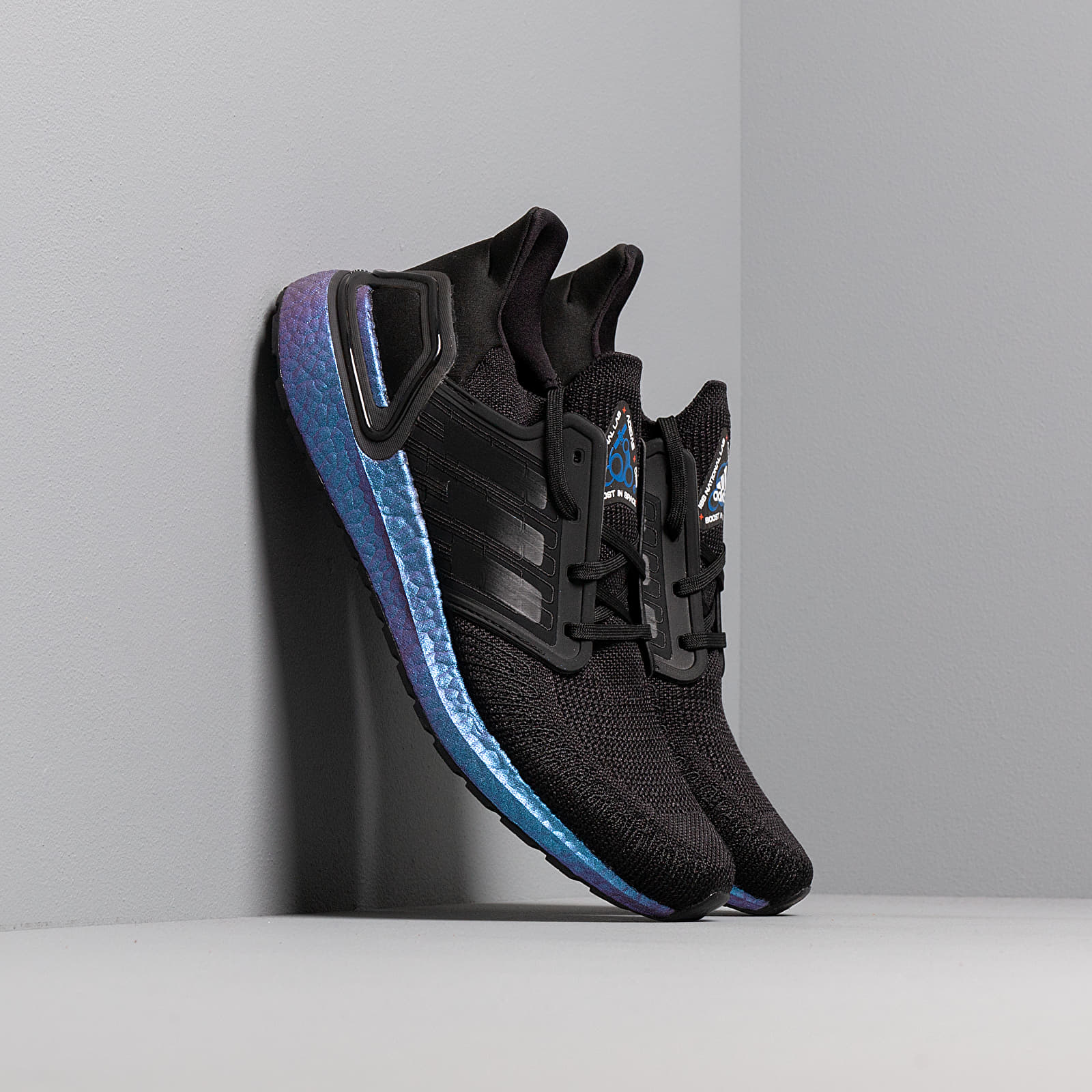 adidas UltraBOOST 20 Core Black Core Black Blue Vime | Footshop