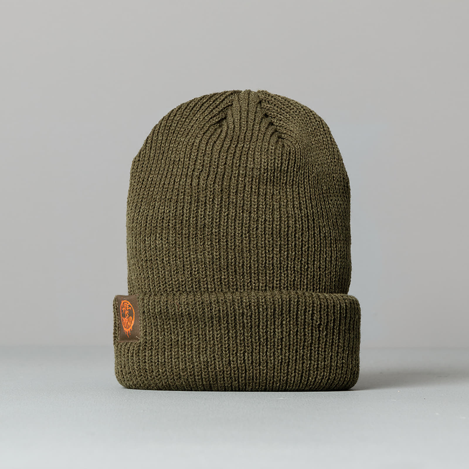 Hats LIFE IS PORNO Fisherman Beanie Olive