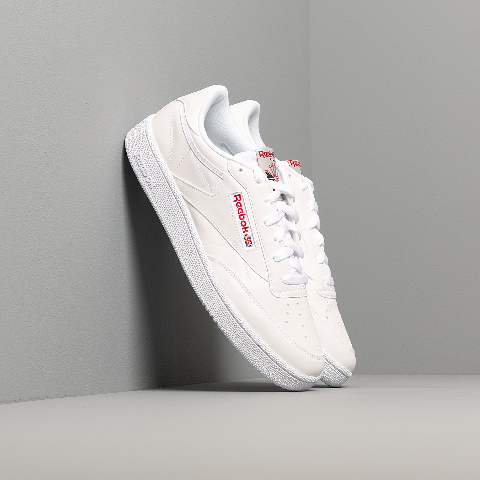 Men's shoes Reebok Club C 85 Mu White/ Skull Grey/ Red