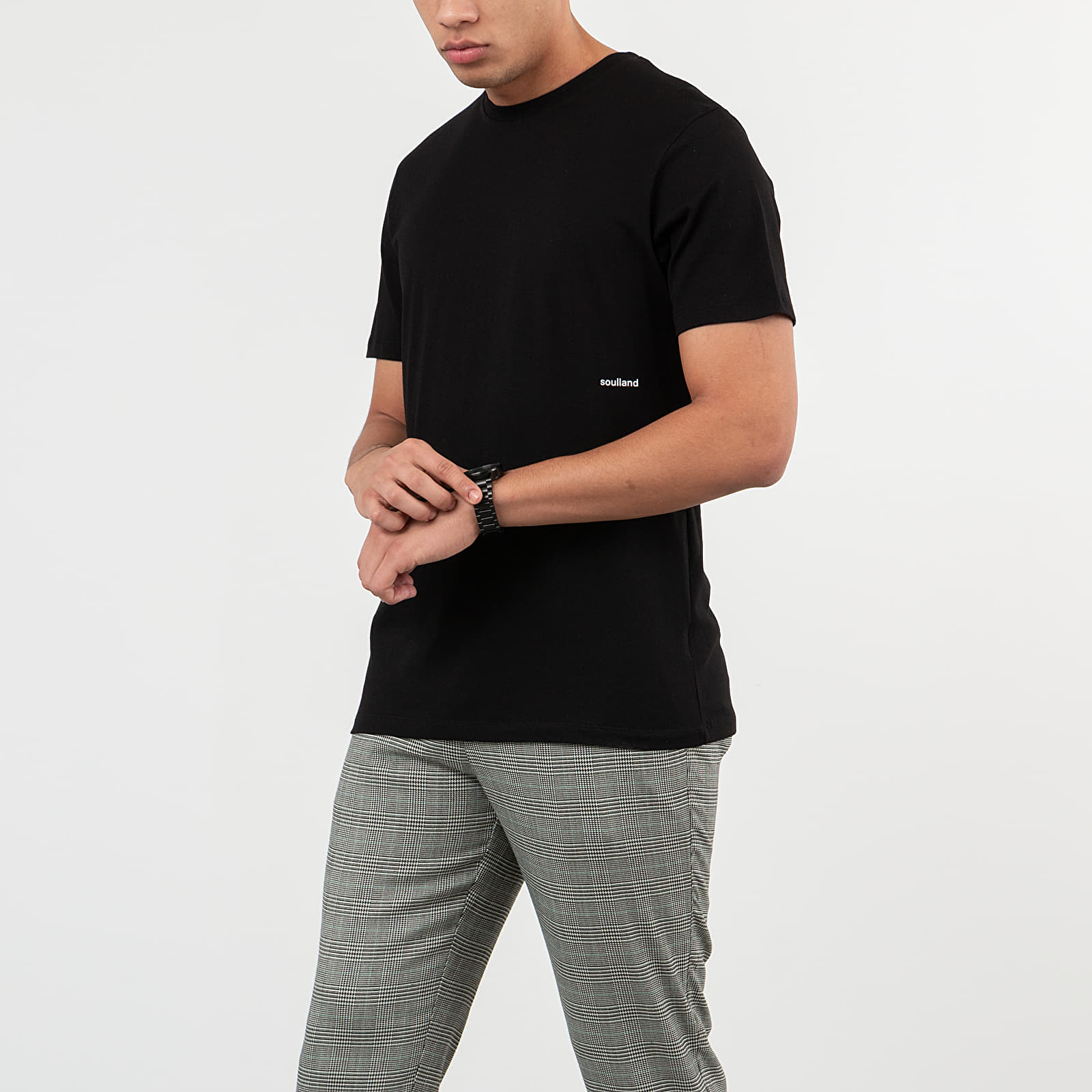 Trička Soulland Coffey Tee Black