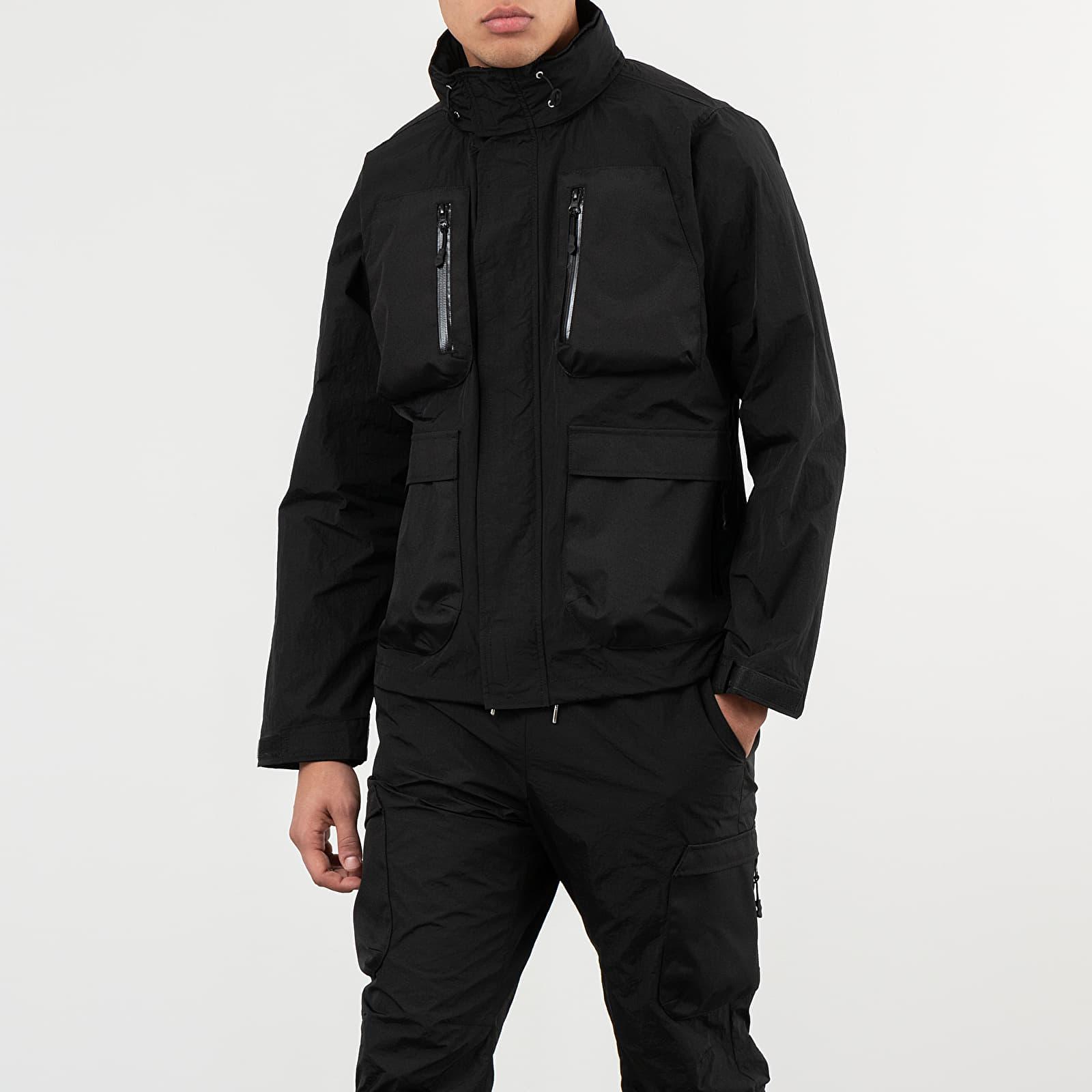 Vestes et manteaux John Elliott High Shrunk Nylon Parachute Jacket Black