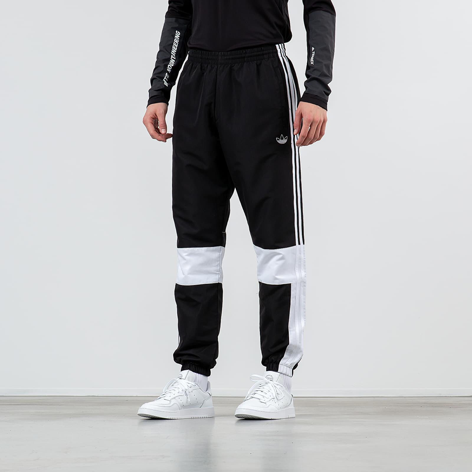 Džíny a kalhoty adidas Asymmetric Track Pants Black/ White