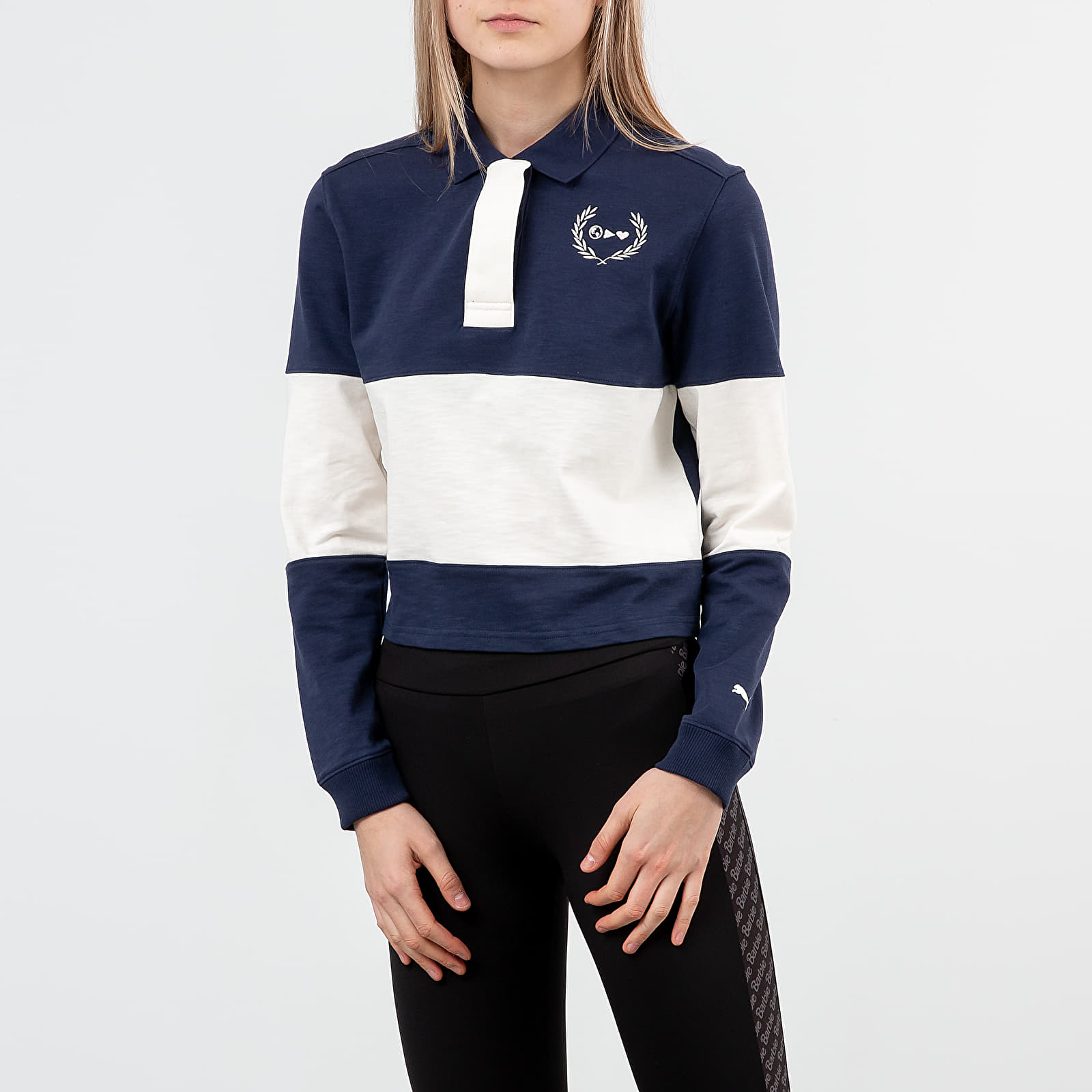 T-shirts Puma x Selena Gomez Rugby Polo Tee Peacoat/ Whisper White