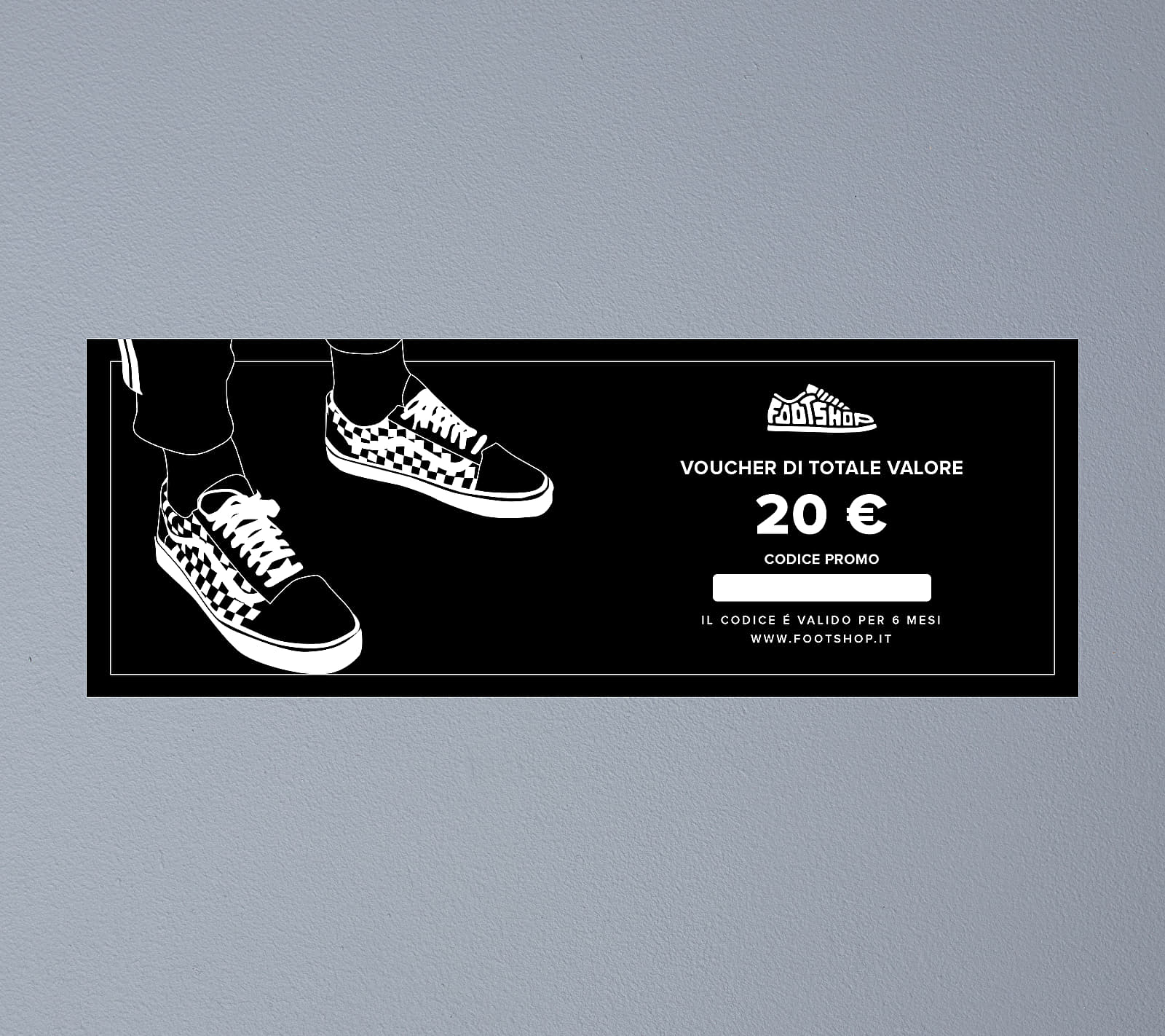 Voucher di totale valore 20 € Footshop