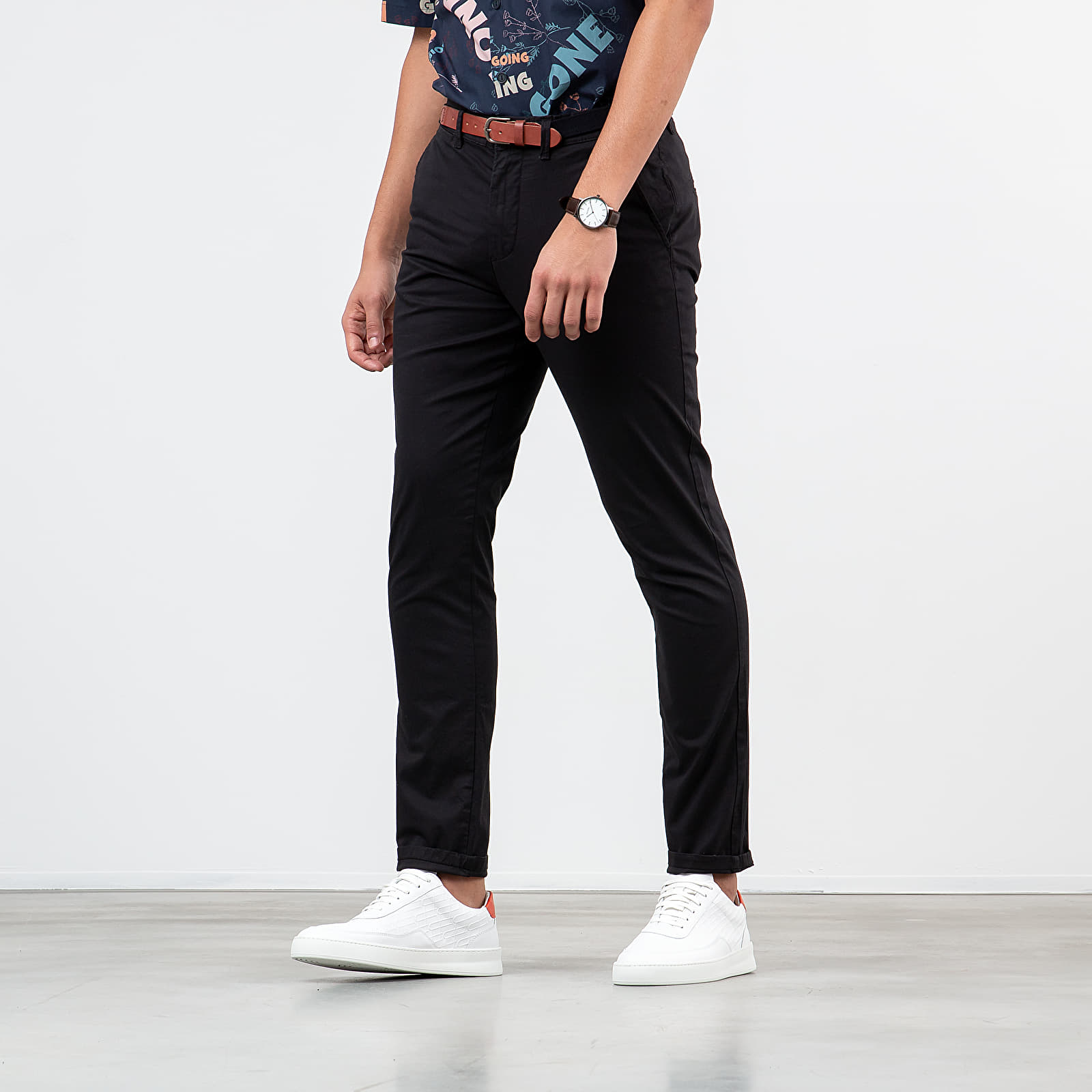 Pants and jeans SELECTED Slim-Yard Pants Black