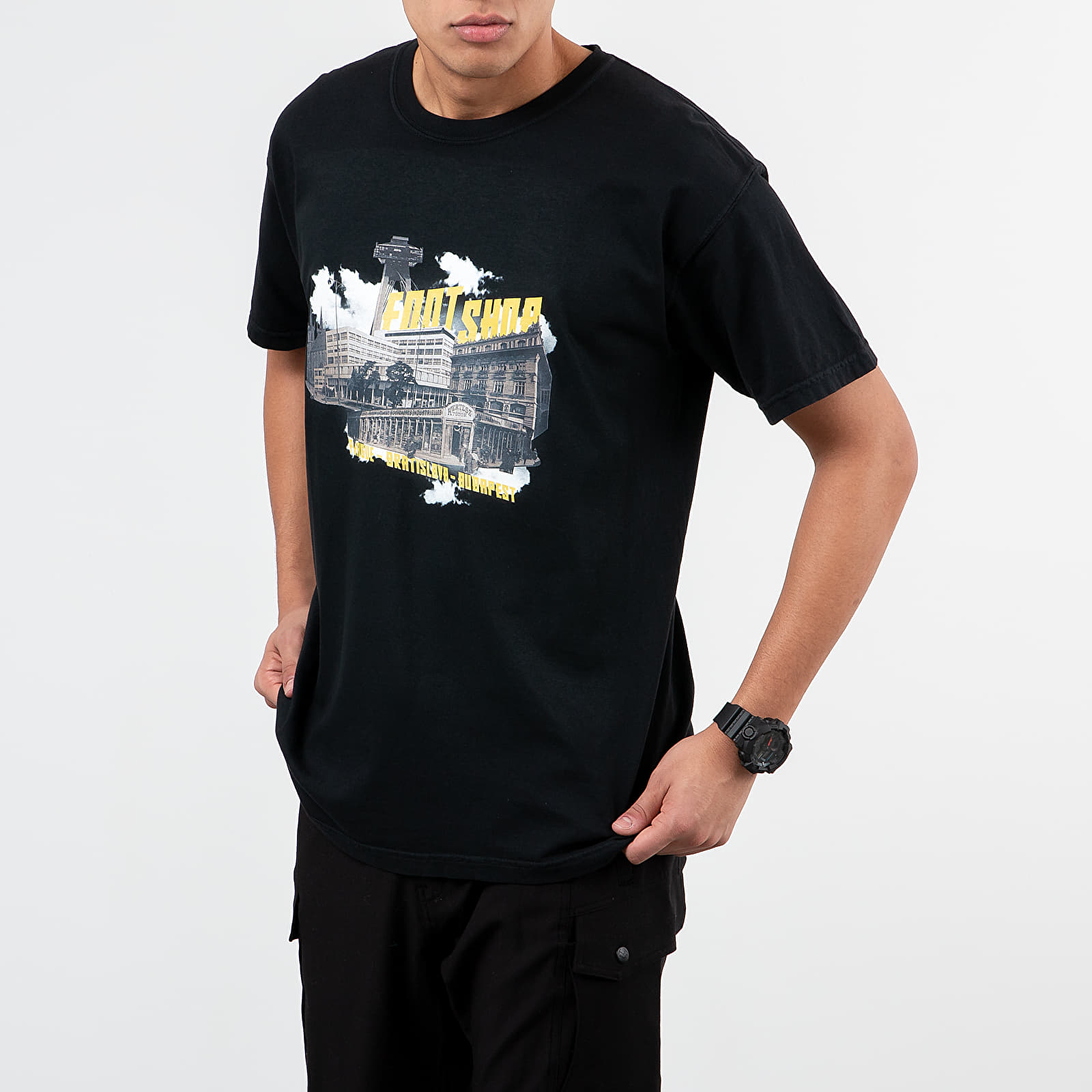 T-Shirts Footshop Stores & Cities Tee Black