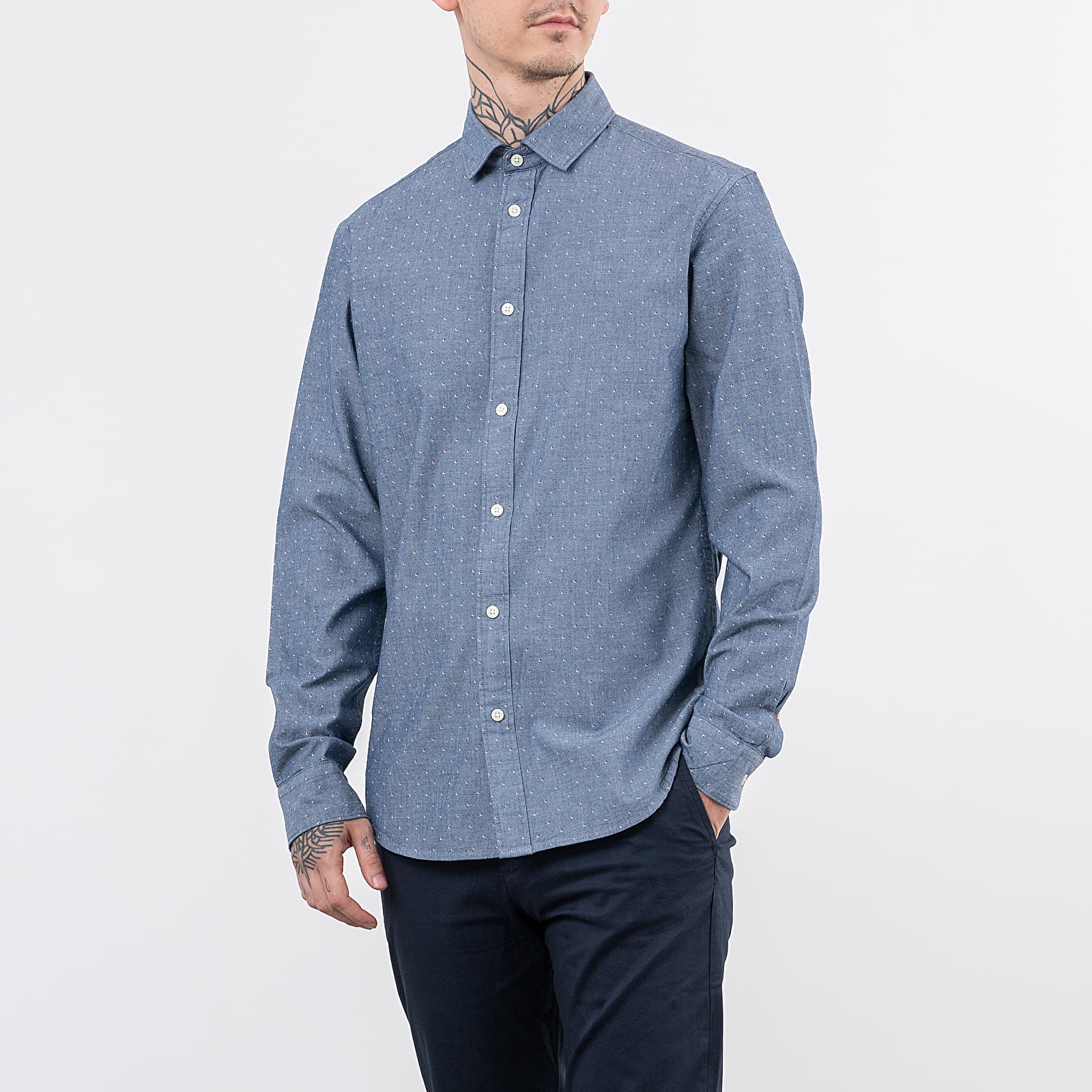 SELECTED Slimmark-Washed Long Sleeve Shirt