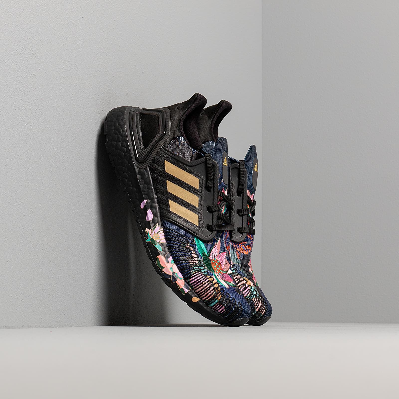 Men's shoes adidas UltraBOOST 20 Core Black/ Gold Metalic/ Signature Coral