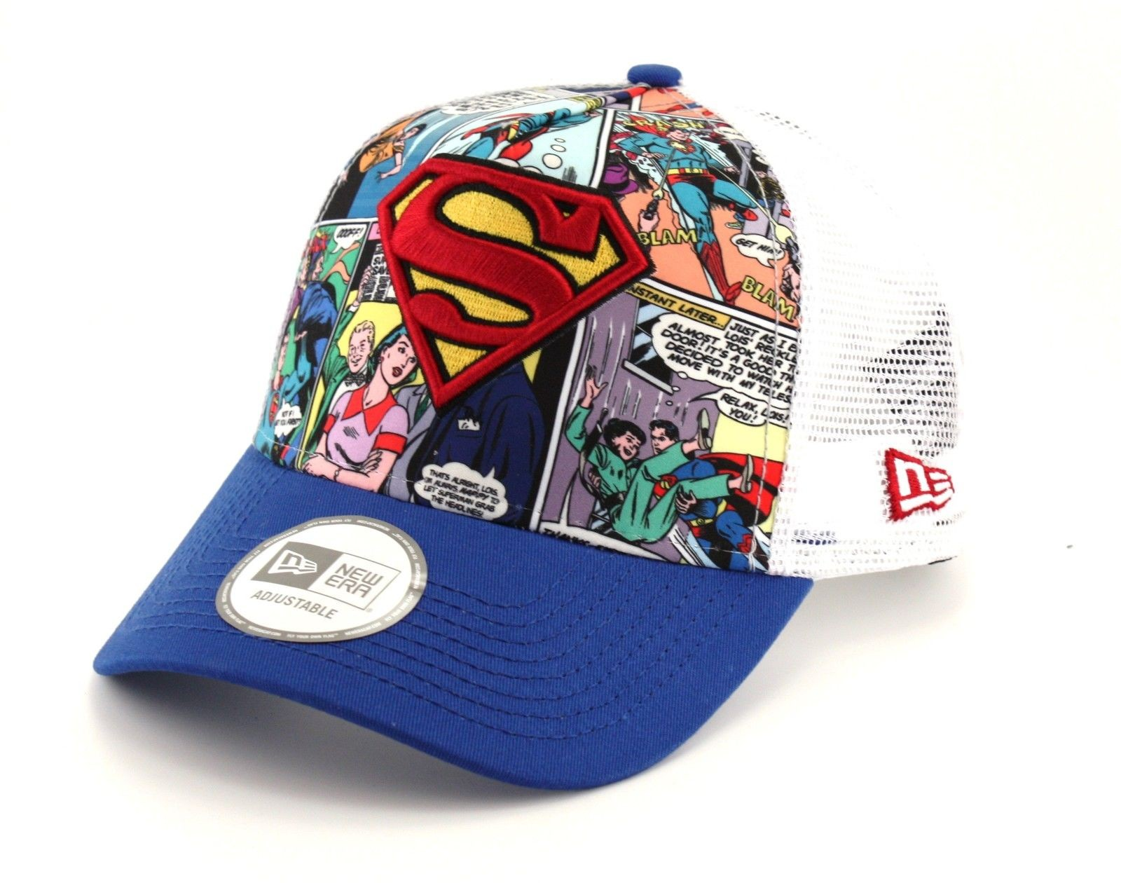 New Era Adjustable Comic Truck Superman Blue White  8babbe4440bd