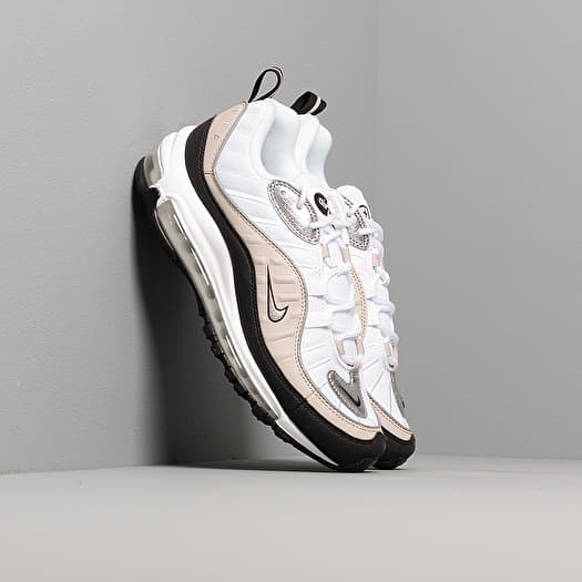 Nike W Air Max 98 White Metallic Silver Desert Sand Black
